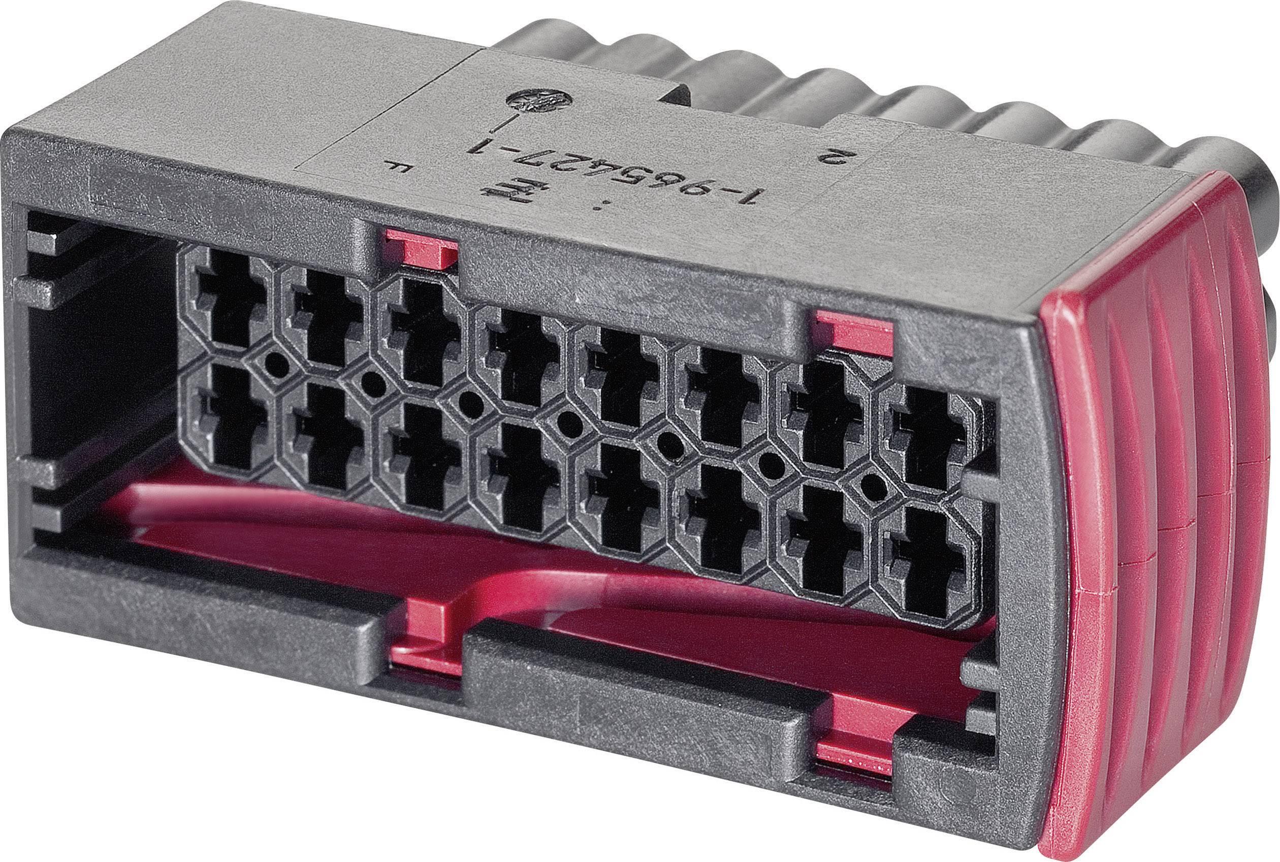 Pouzdro TE Connectivity J-P-T (1-967242-1), zásuvka rovná, černé