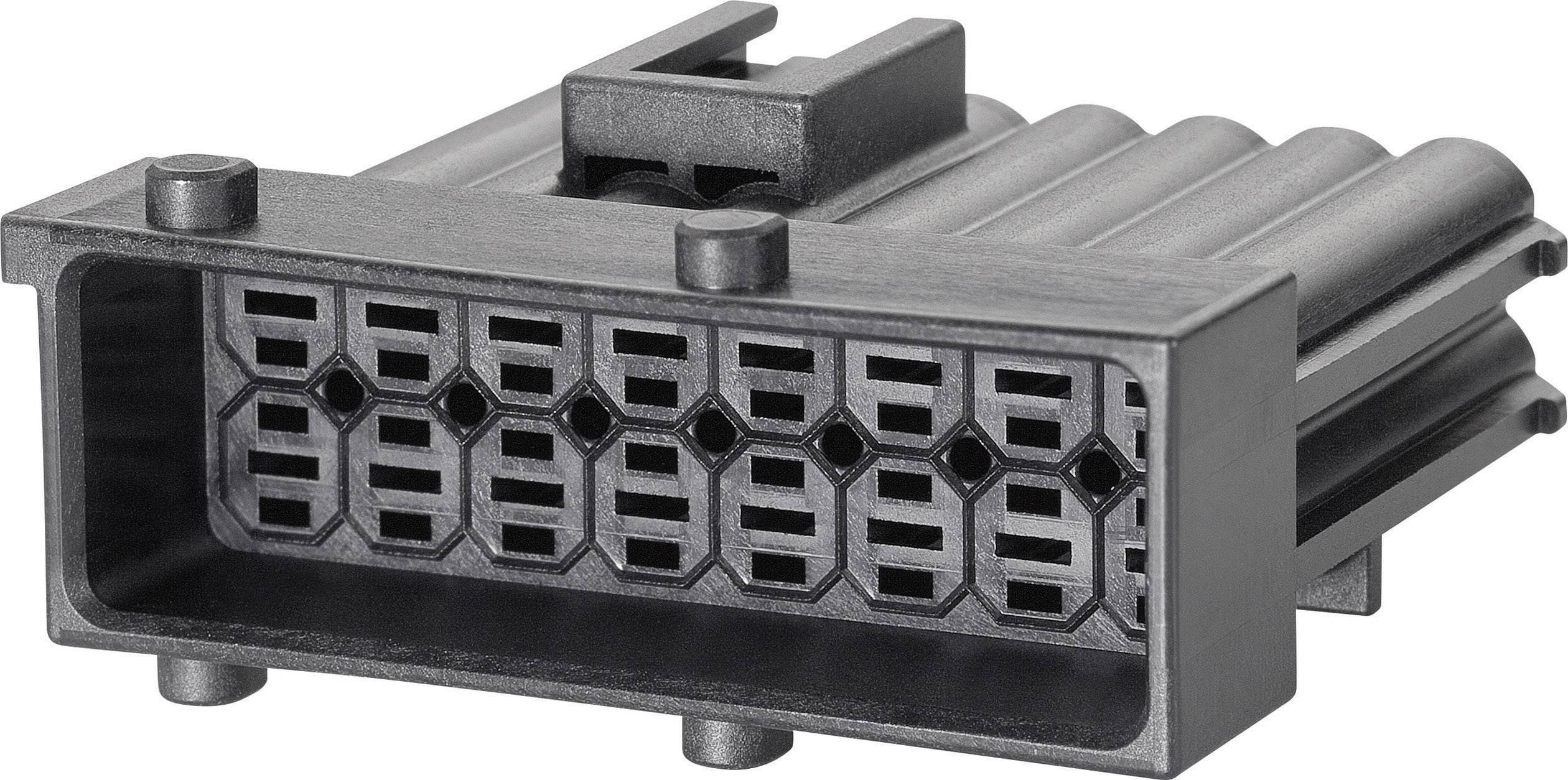 Zástrčkový konektor na kábel TE Connectivity J-P-T 1-965423-1, 38 mm, pólů 10, rozteč 5 mm, 1 ks
