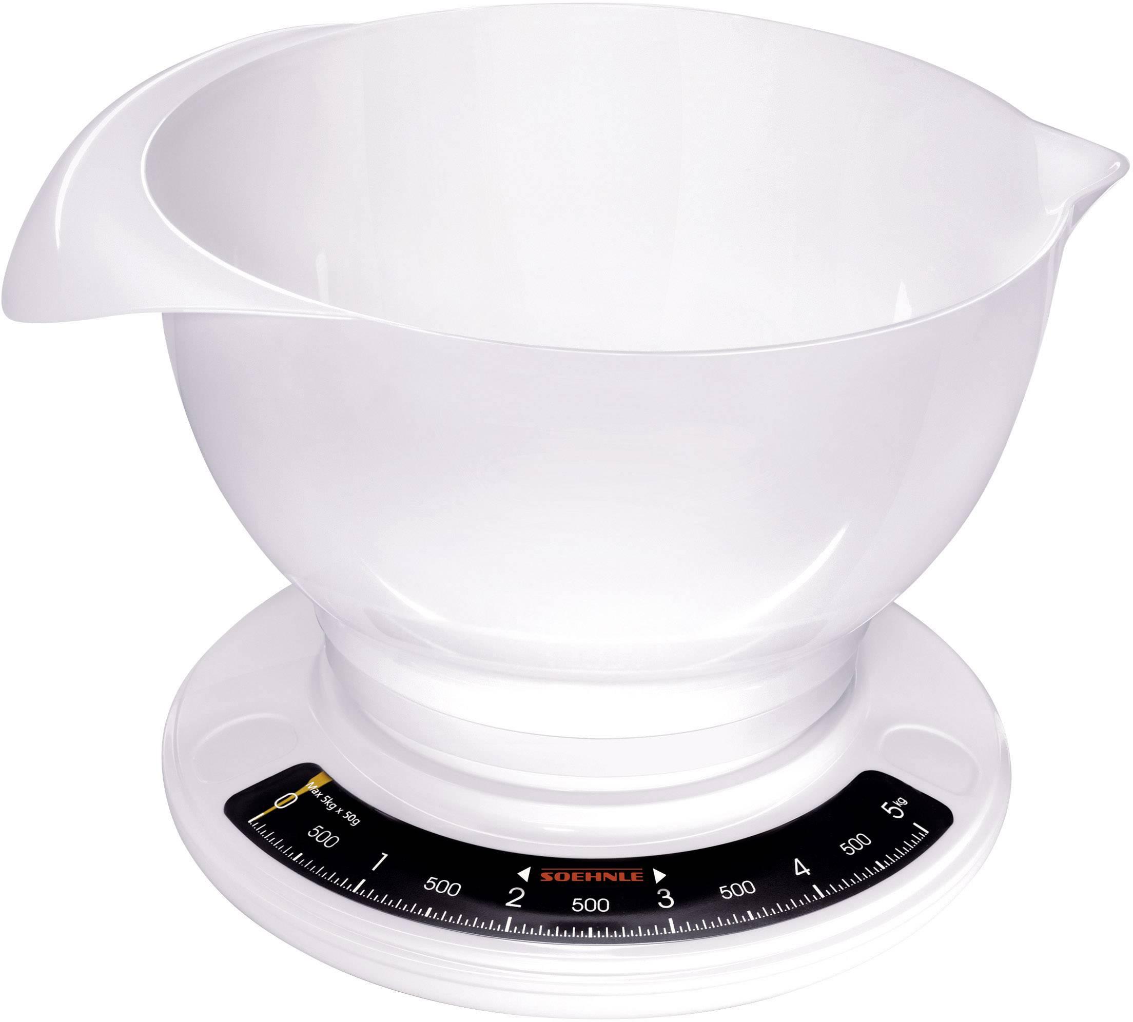 Analogová, s odměrnou mísou kuchyňská váha Soehnle Culina Pro, bílá