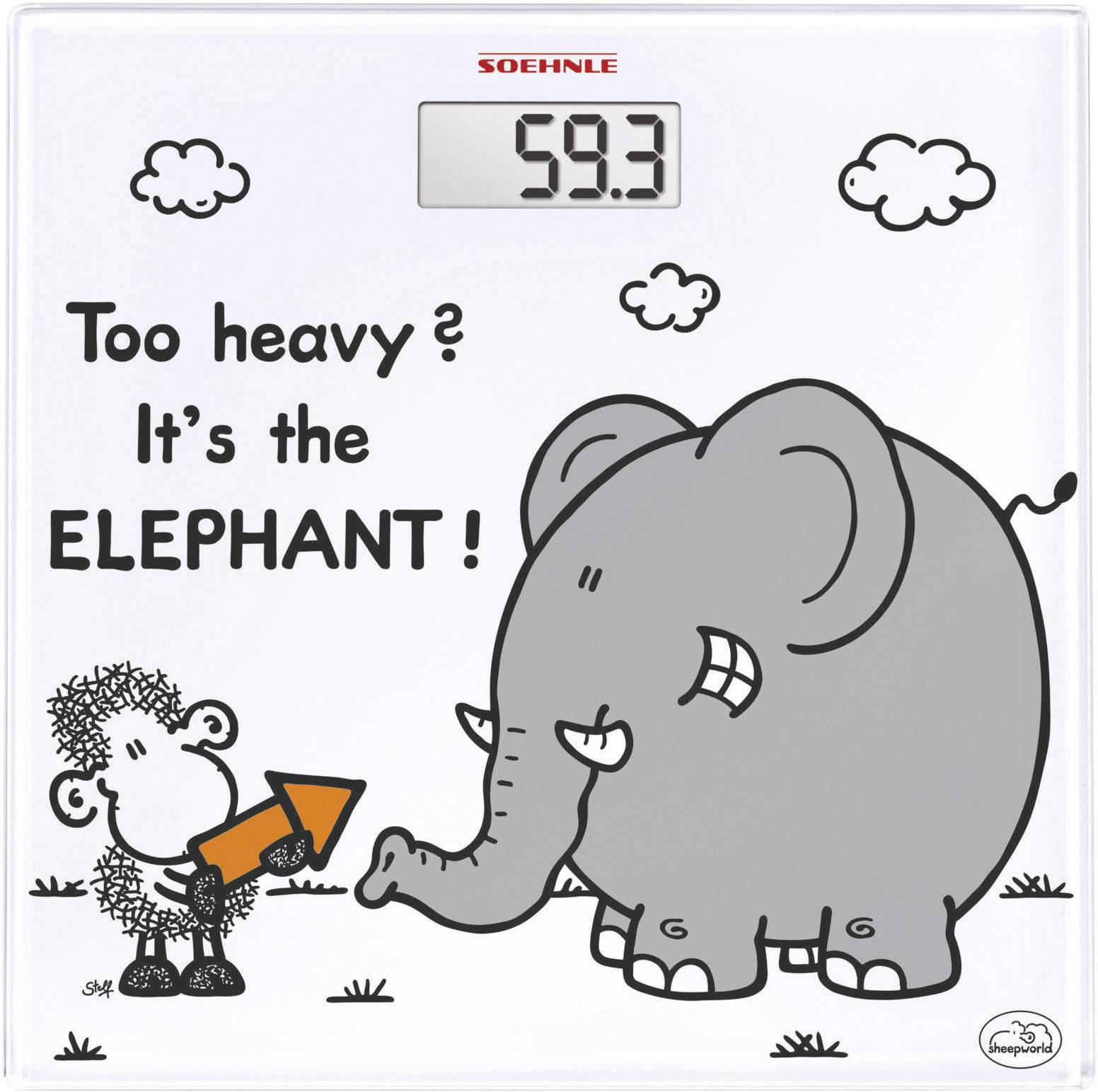 Digitálna osobná váha Soehnle Sheepworld too heavy, biela