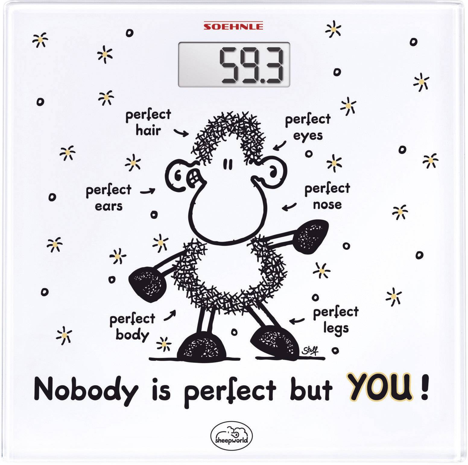 Skleněná osobní váha Soehnle Sheepworld, 63345, bílá