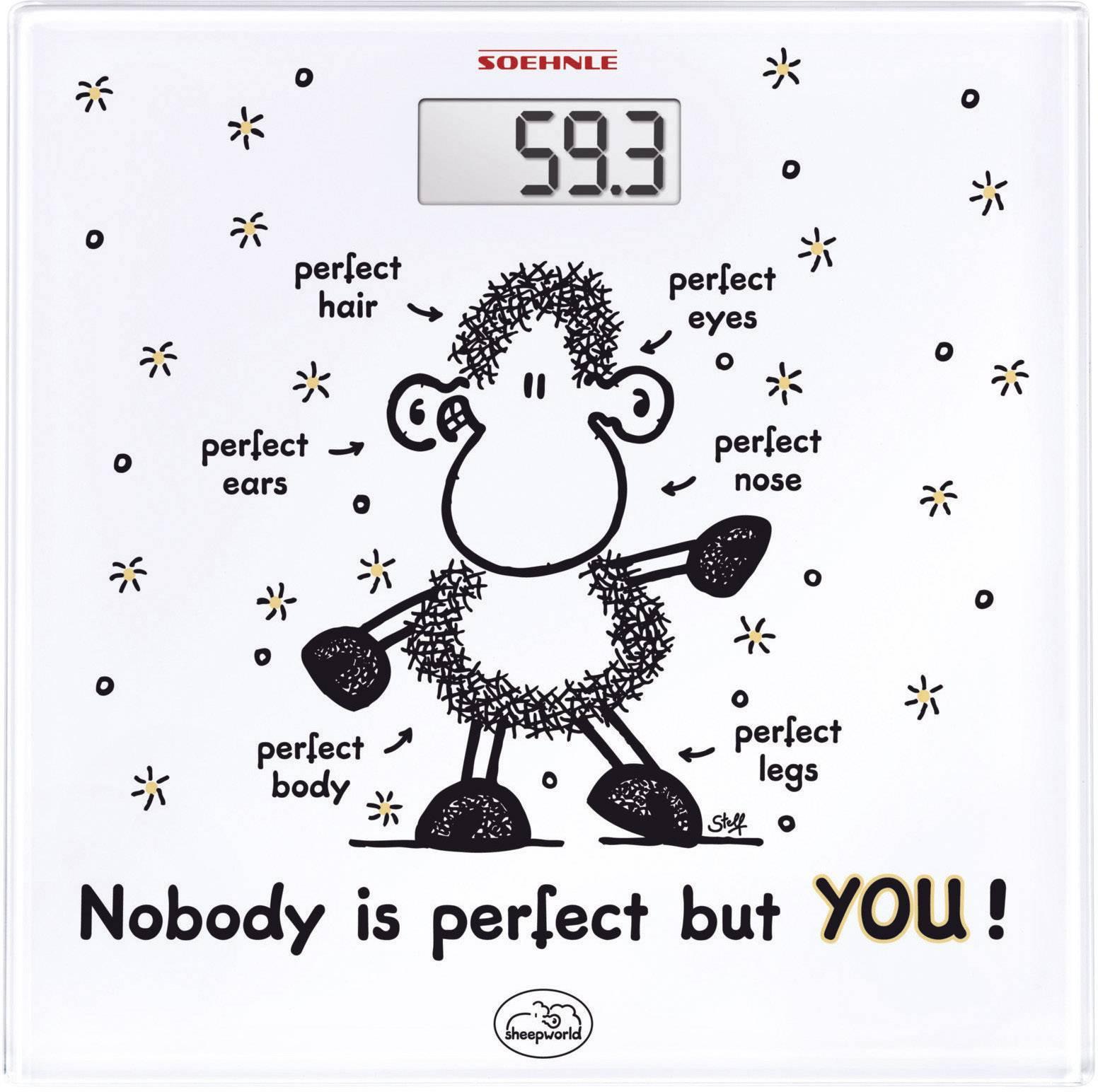 Sklenená osobná váha Soehnle Sheepworld, 63345, biela