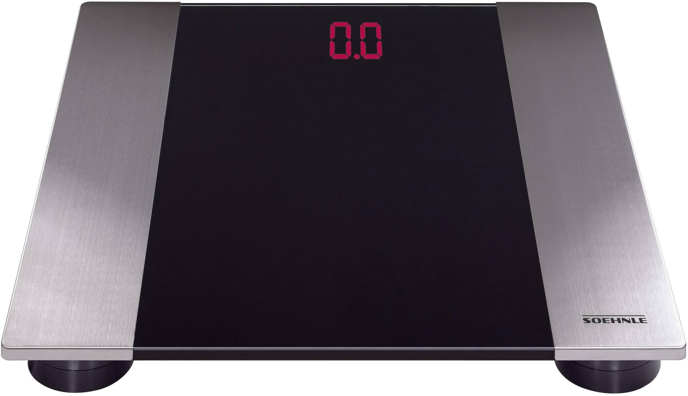 Digitální osobní váha Soehnle Linea, nerezová ocel, černá