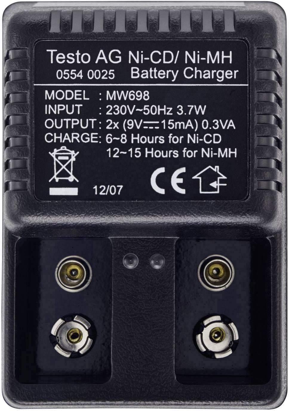 Nabíječka akumulátoru 220/9 V testo 0554 0025 vhodná pro zařízení k měření CO2 Testo 535
