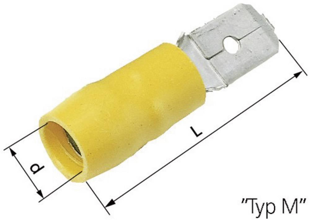 Faston konektor LAPP 63103020 6.3 mm x 0.8 mm, 180 °, částečná izolace, modrá, 100 ks