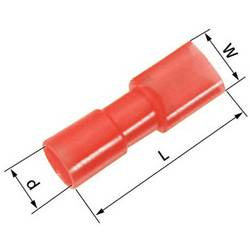 Faston zásuvka LAPP 61794952 2.8 mm x 0.8 mm, 180 °, plná izolace, červená, 100 ks