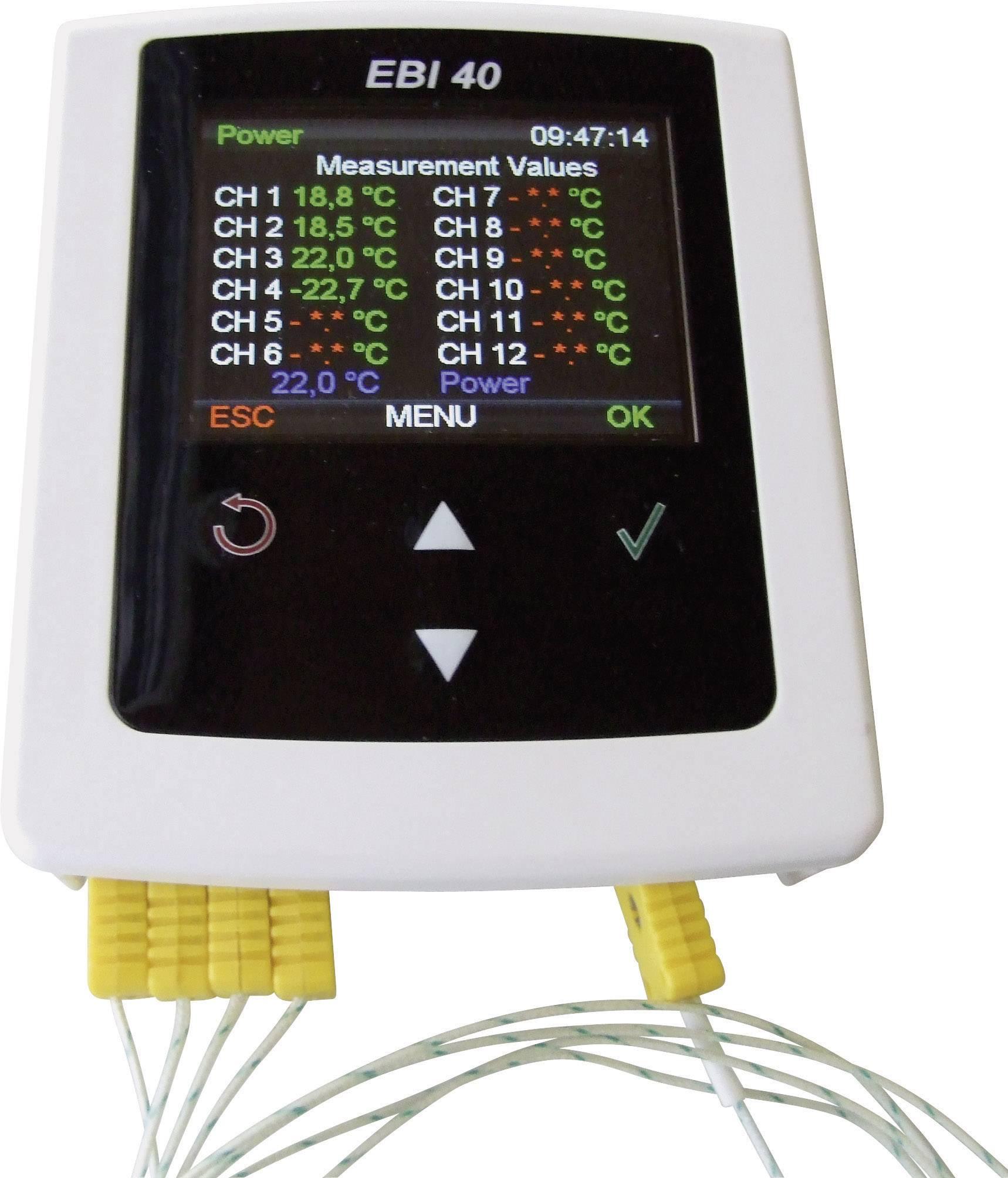 Teplotný datalogger ebro EBI 40 TC-02, 0 °C až 500 °C