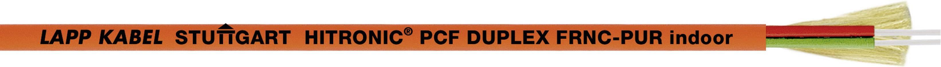 Skleněné vlákno LAPP HITRONIC PCF DUPLEX FD FRNC-PUR 28320702, Duplex, oranžová, 500 m