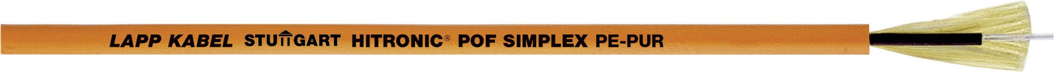 Optický kabel POF LAPP HITRONIC POF SIMPLEX FD PE-PUR 28320001, Simplex, oranžová, 1000 m