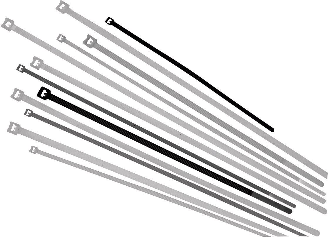 Sťahovacie pásky LappKabel 61831047, 290 mm, čierna, 500 ks