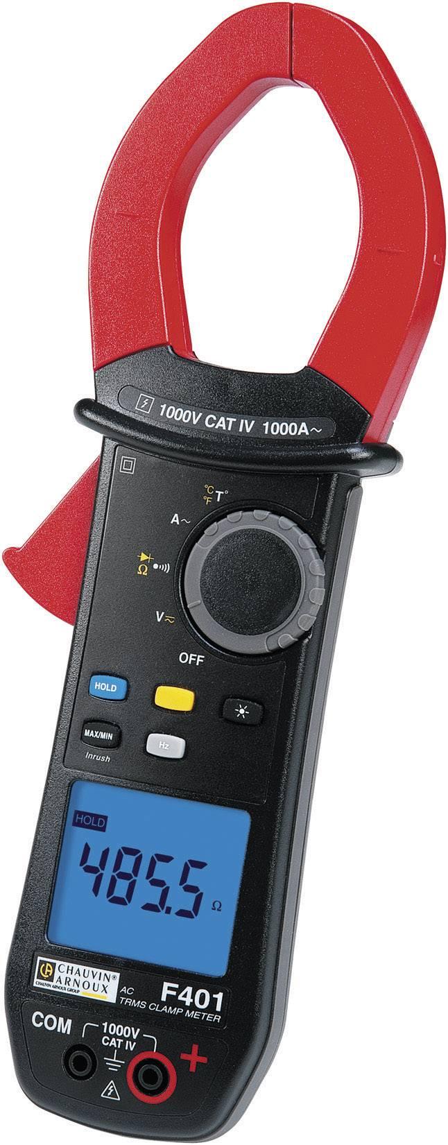Digitální proudové kleště, multimetr Chauvin Arnoux F401, kalibrace dle ISO