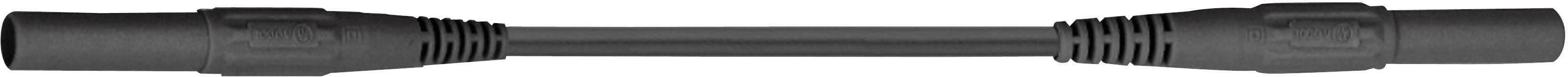 Měřicí silikonový kabel banánek 4 mm ⇔ banánek 4 mm MultiContact XMF-419, 0,5 m, černá