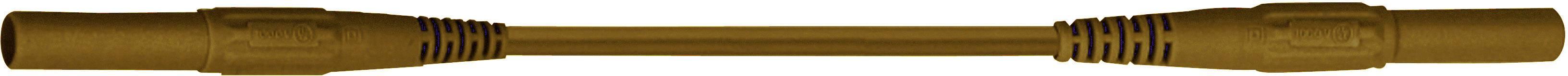 Merací silikónový kábel Multicontact XMS-419, 2,5 mm², hnedý, 1,5 m