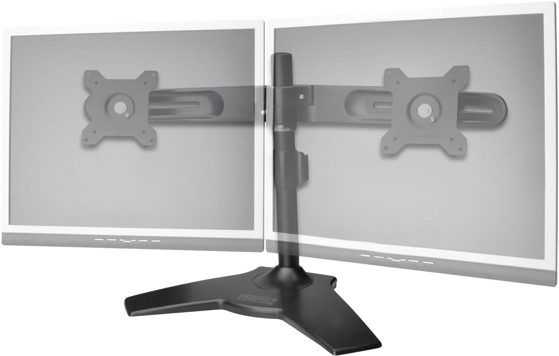"""Stolní držák na 2 monitory, 38 - 61 cm (15"""" - 24""""), černá, Digitus"""