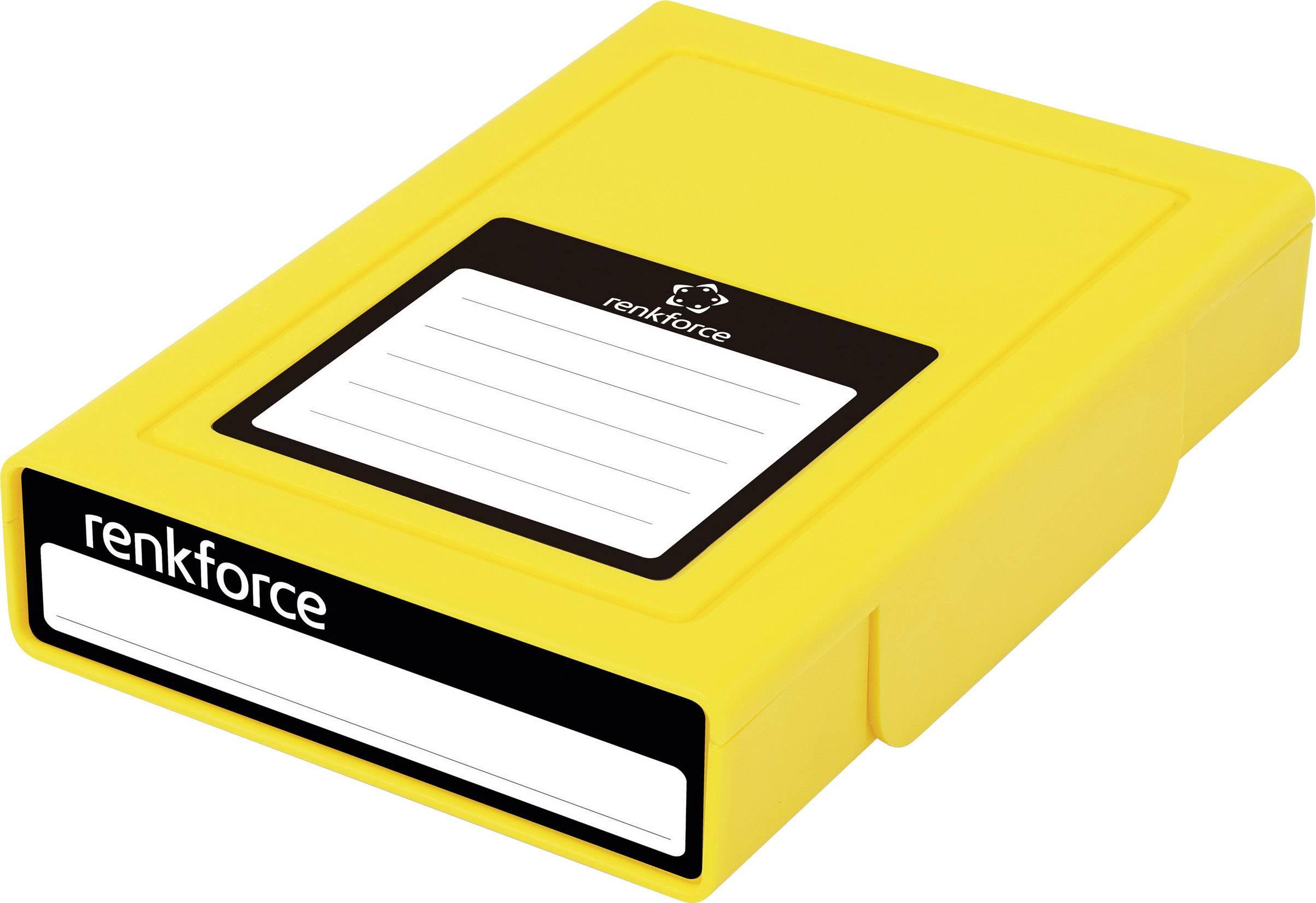 """Púzdro na pevný disk Renkforce, HY-EB-8500, 3,5"""", žltá"""