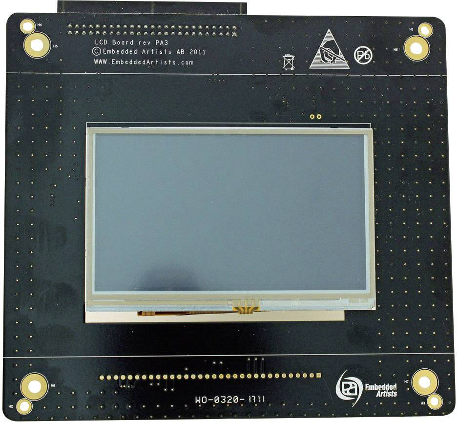 LCD TFT doska 4.3, 480 x 272 px, Embedded Artists EA-LCD-004
