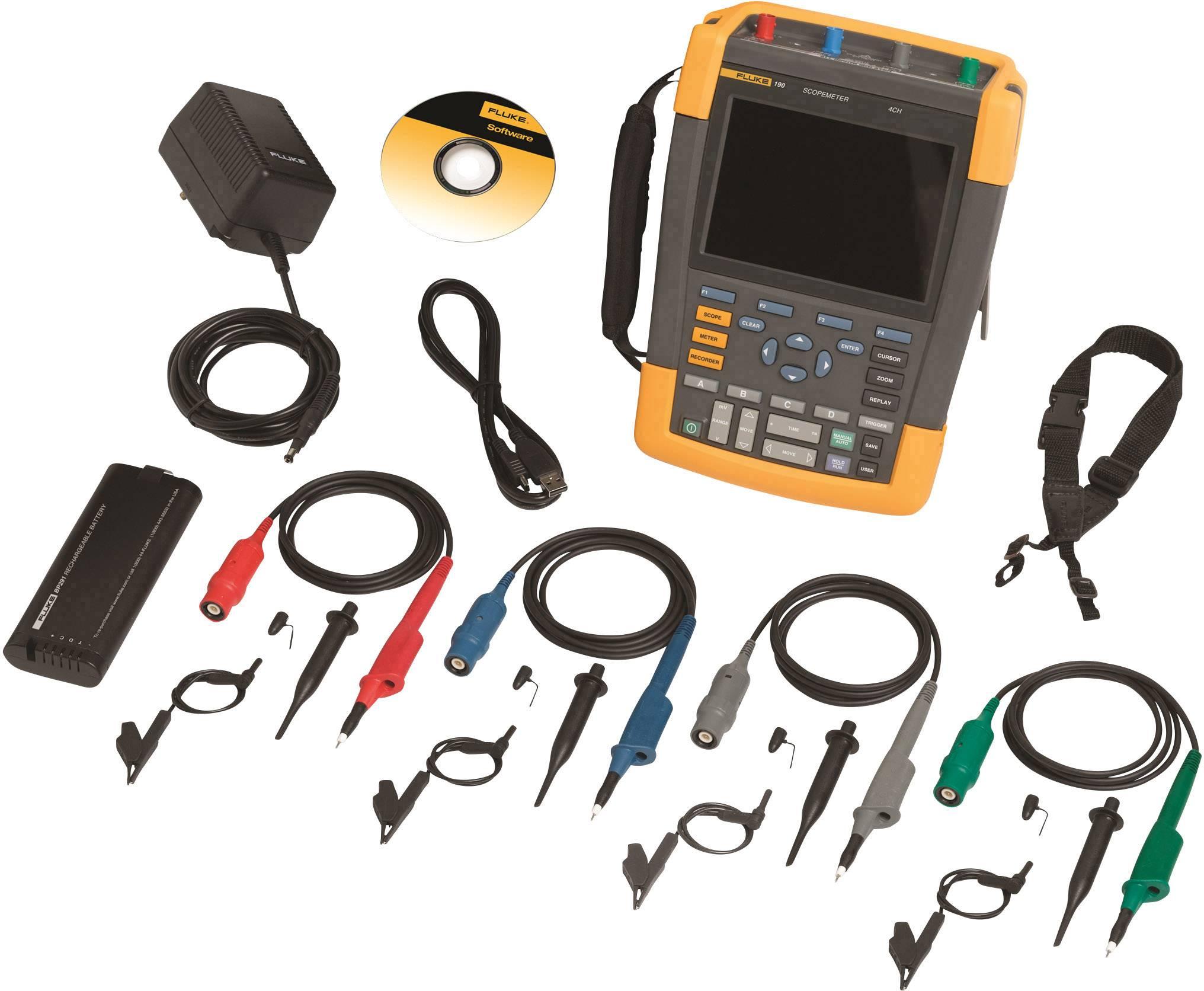 Ručný osciloskop Fluke ScopeMeter 190-104/EU, 100 MHz, 4-kanálová
