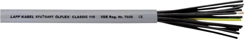 Řídicí kabel LappKabel ÖLFLEX® CLASSIC 110, 1119852, 2 x 1 mm², vnější Ø 5.70 mm, šedá, 100 m