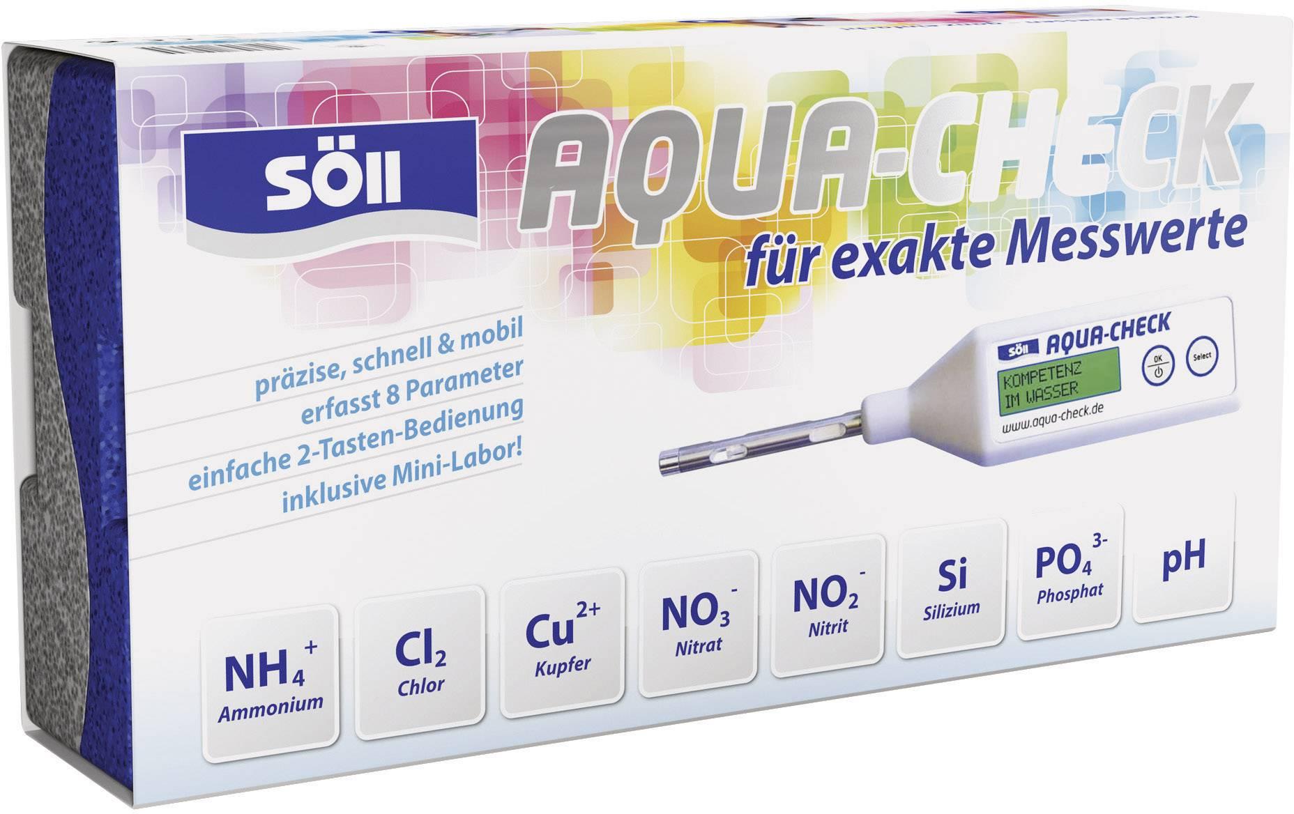 Merač koncentrácie látok vo vode Söll Aqua-Check, NH4 +/NO3-/NO2-/Cl2/Si/Cu2 +/PO4, 15165
