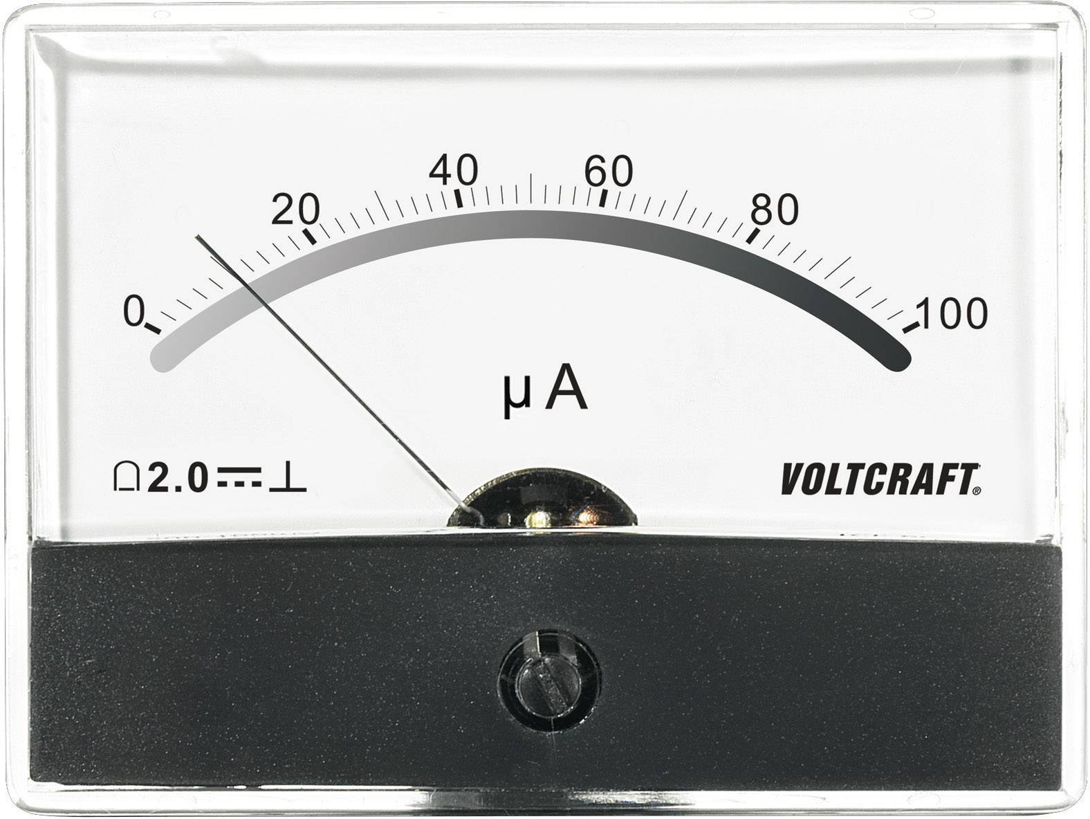 Panelové meradlo Voltcraft AM-86X65, 100 uA