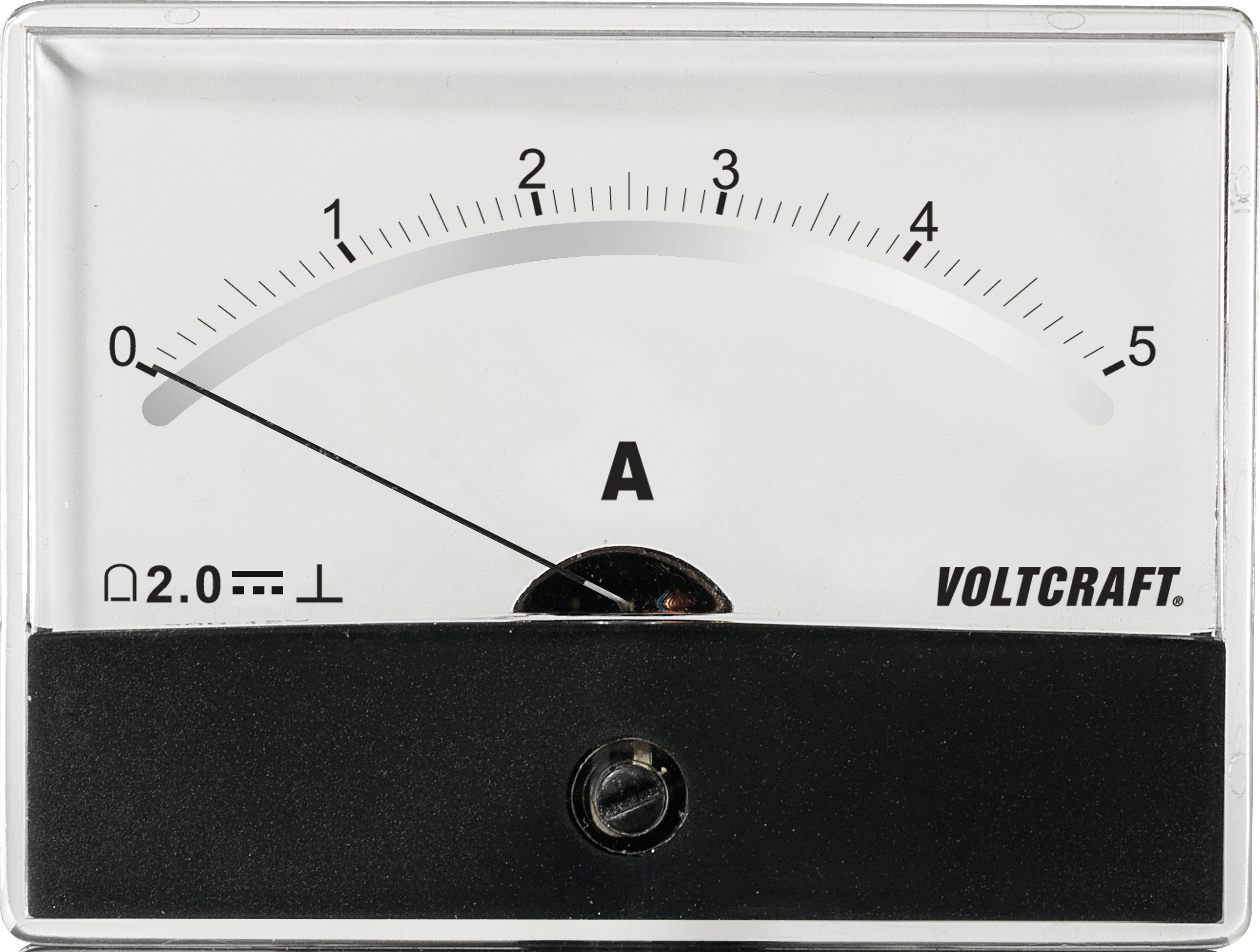 Analogové panelové měřidlo VOLTCRAFT AM-86X65/5A/DC 5 A