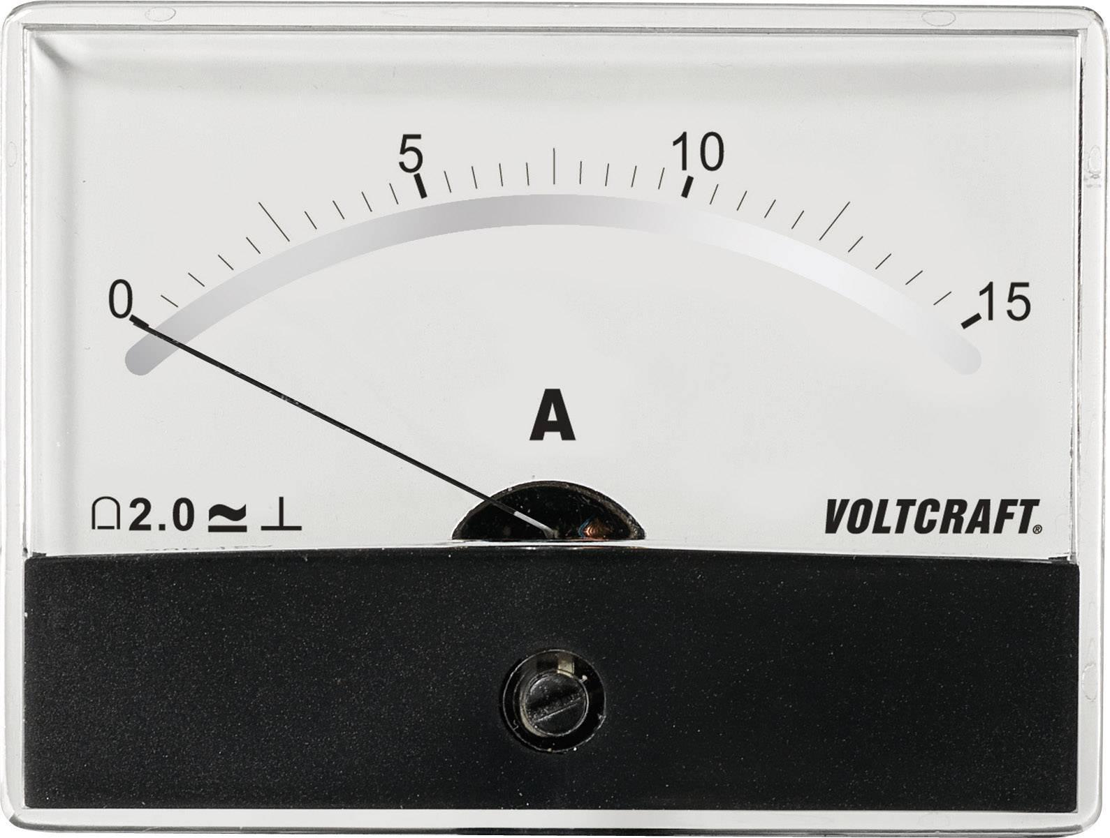 Panelové meradlo Voltcraft AM-86X65, 15 A/DC