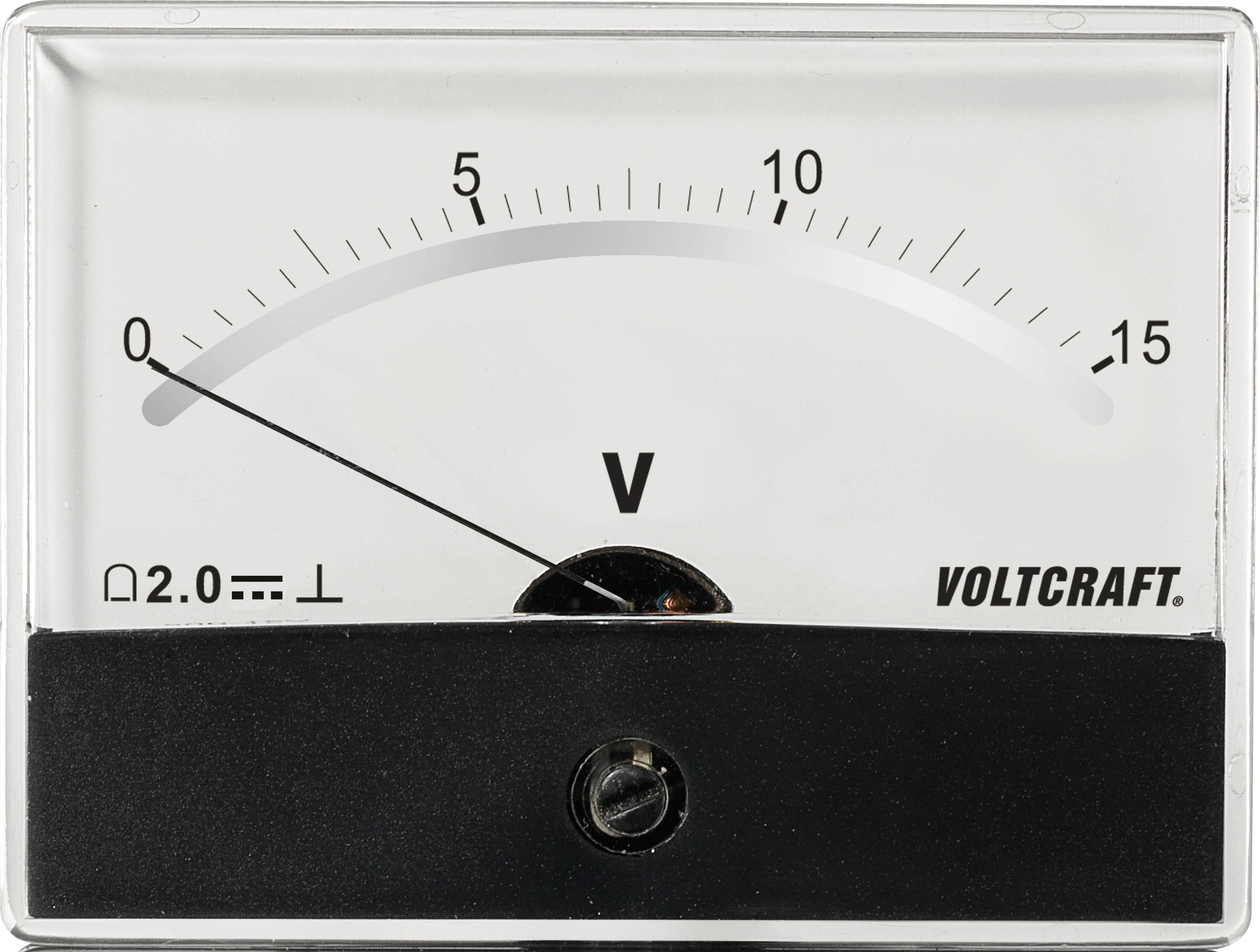 Panelové meradlo Voltcraft AM-86X65, 15 V/DC