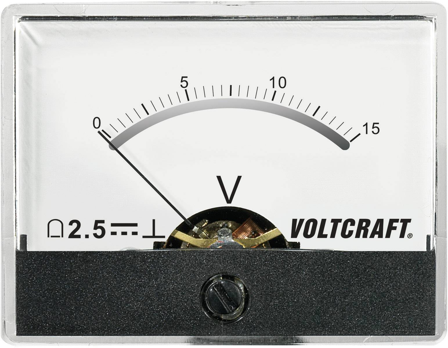 Analogové panelové měřidlo VOLTCRAFT AM-60X46/15V/DC 15 V