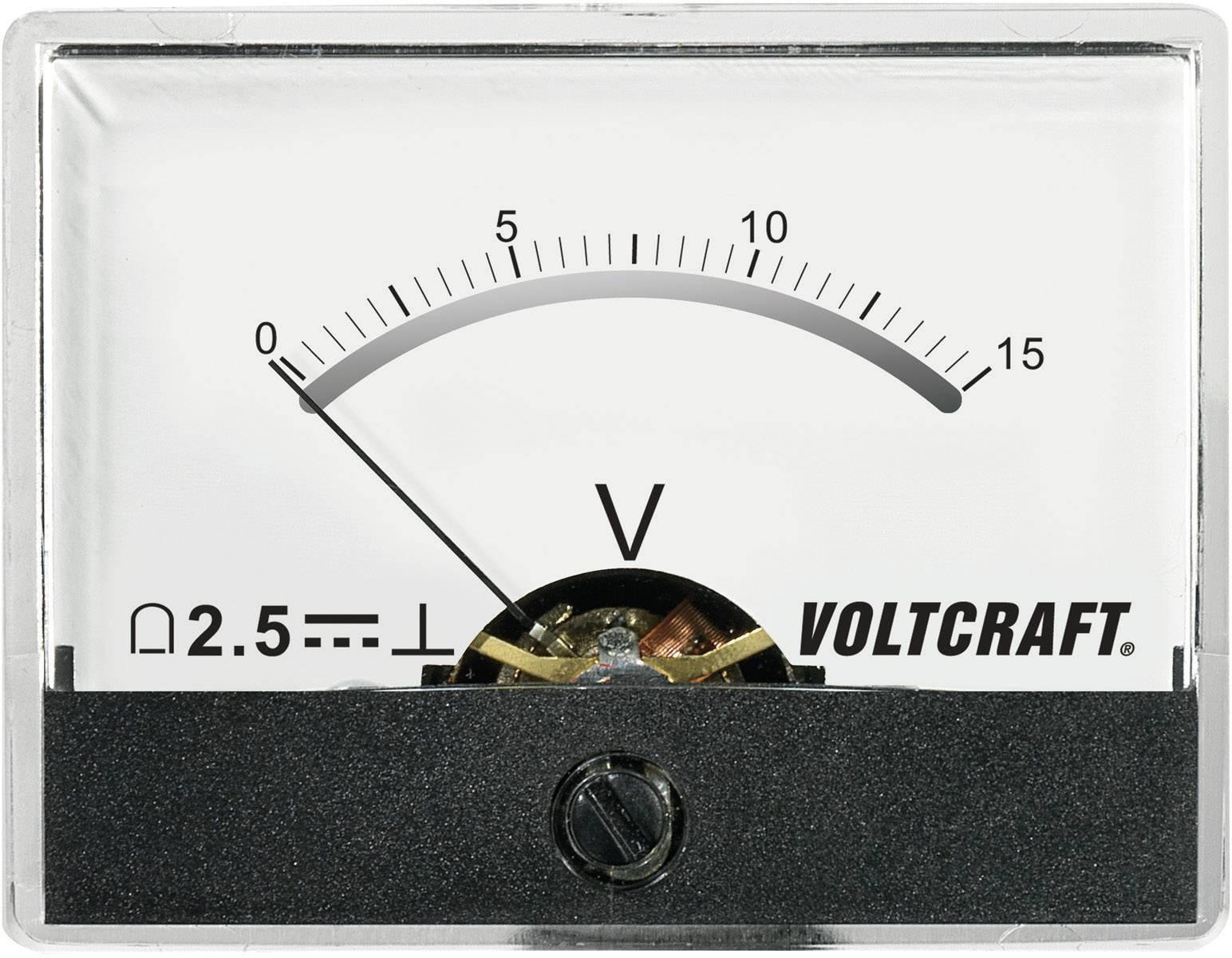 Panelové meradlo Voltcraft AM-60x46, 15 V/DC