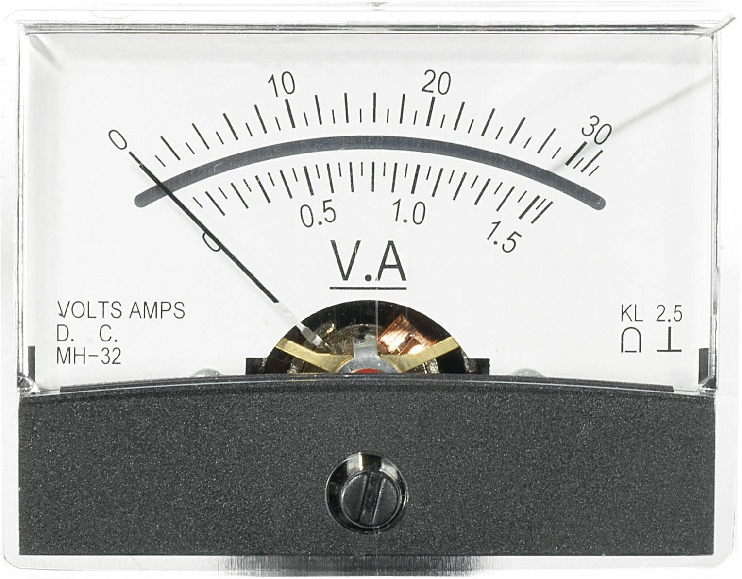 Panelové meradlo Voltcraft AM-60x46, 30 V/1,5 A/DC