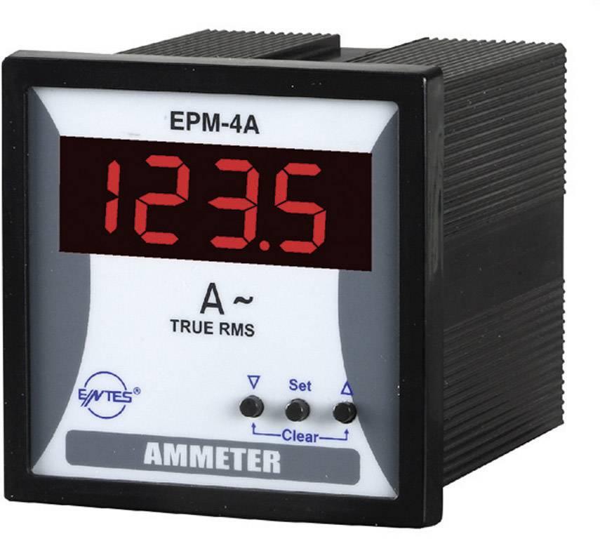 Panelový programovateľný ampérmeter ENTES, EPM-4A-72, 50 mA - 10 kA