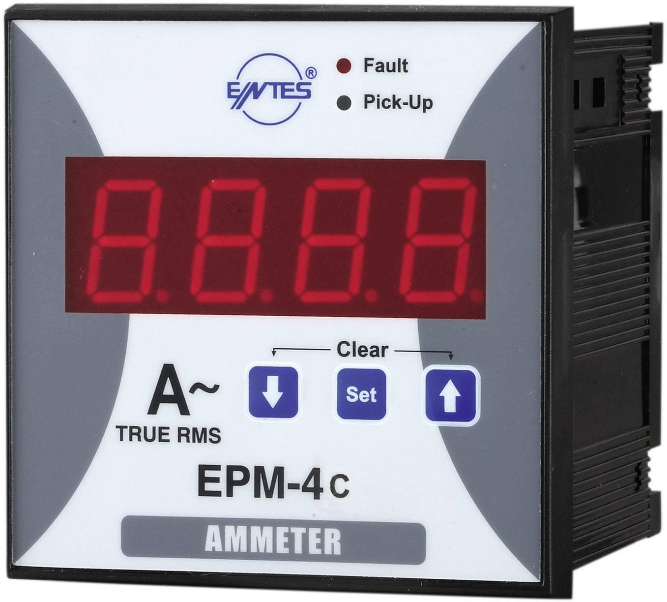 Panelový programovateľný ampérmeter ENTES, EPM-4C-96, 50 mA - 10 kA