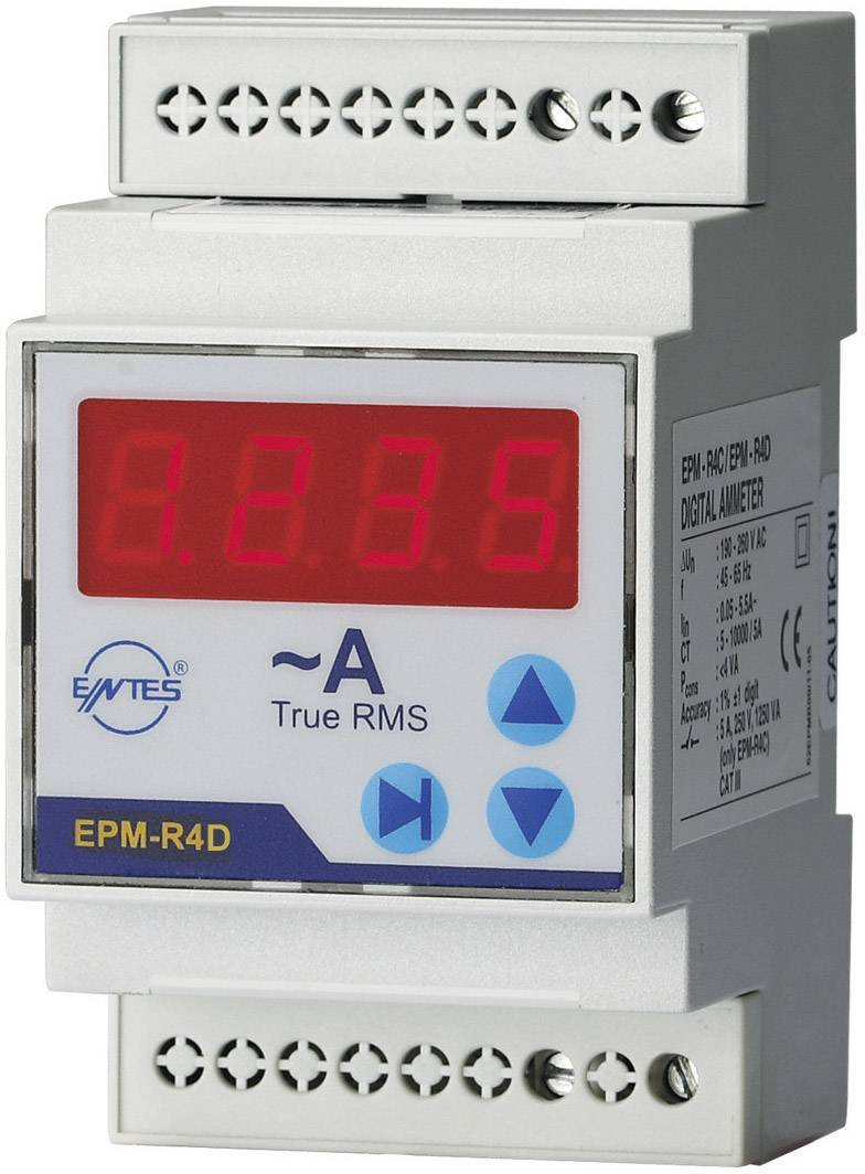Digitální multimetr na DIN lištu Entes EPM-R4D