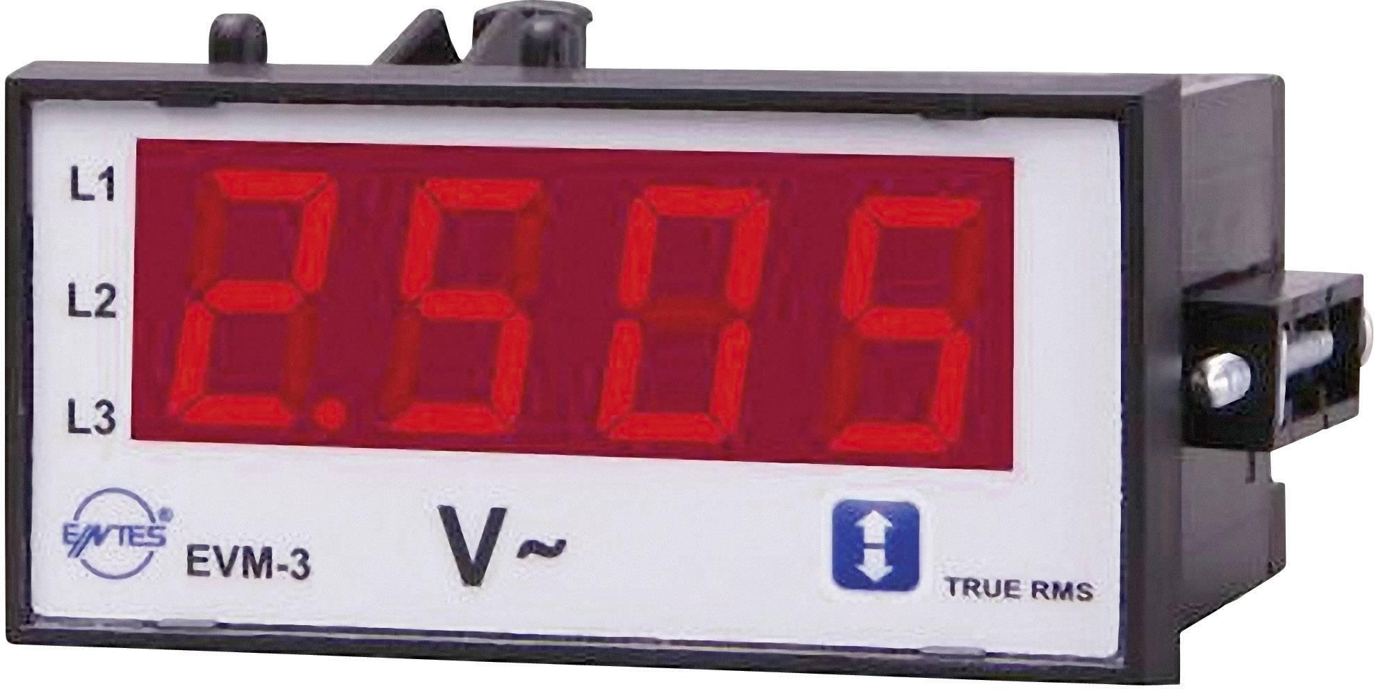 Panelový voltmeter ENTES, EVM-3-48, 10 - 600 V/AC