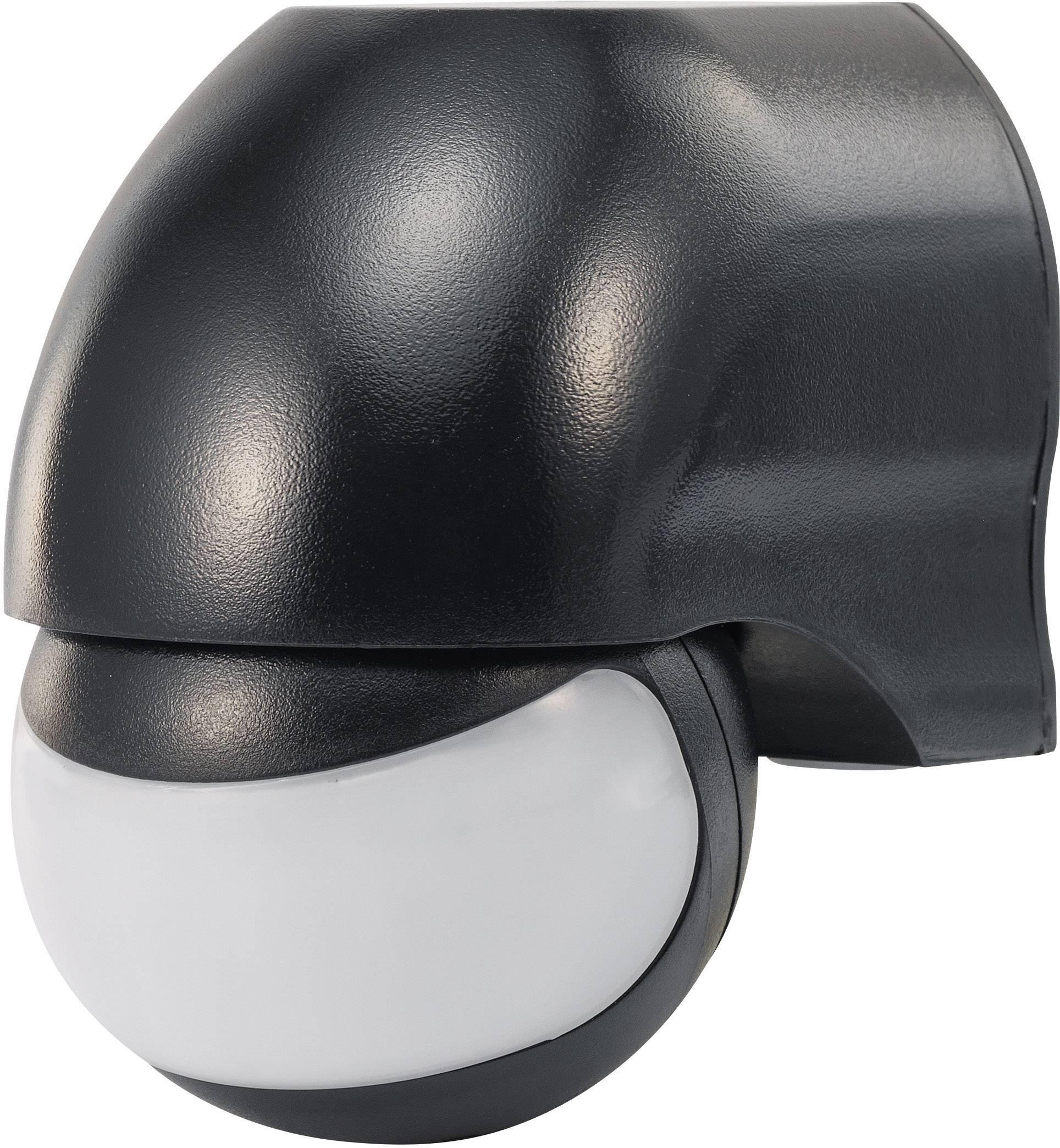 Senzor pohybu PIR Renkforce 1034068, 160 °, relé, čierna, IP44