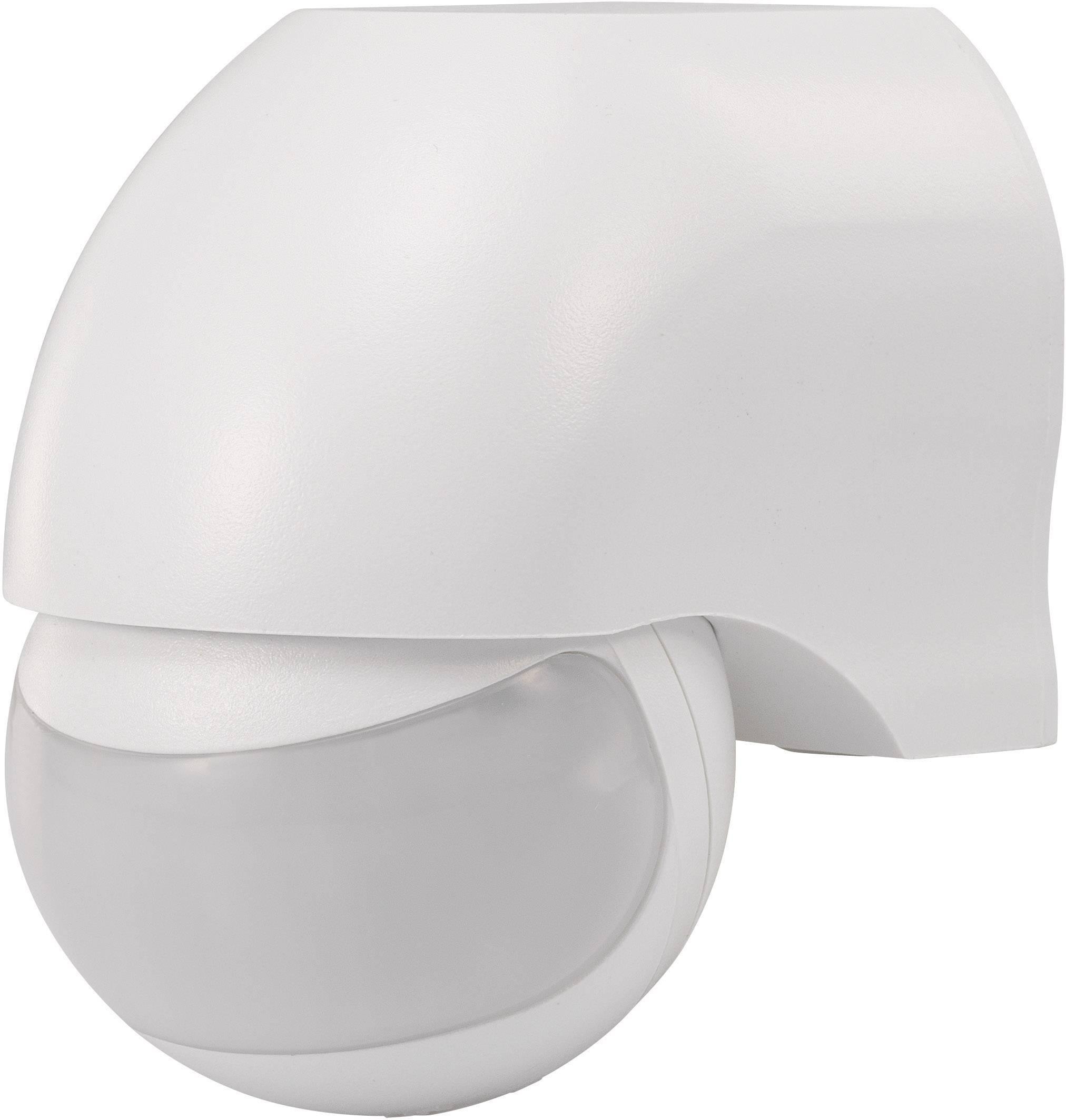 Senzor pohybu PIR Renkforce 1034069, 160 °, relé, biela, IP44