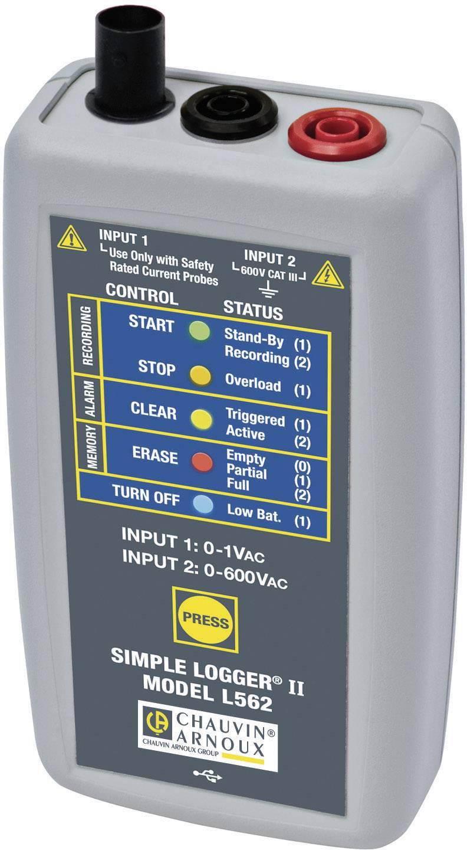 Datalogger napätia Chauvin Arnoux P01157060 meria napätie 0, 0 do 600, 600 V/AC, V/DC
