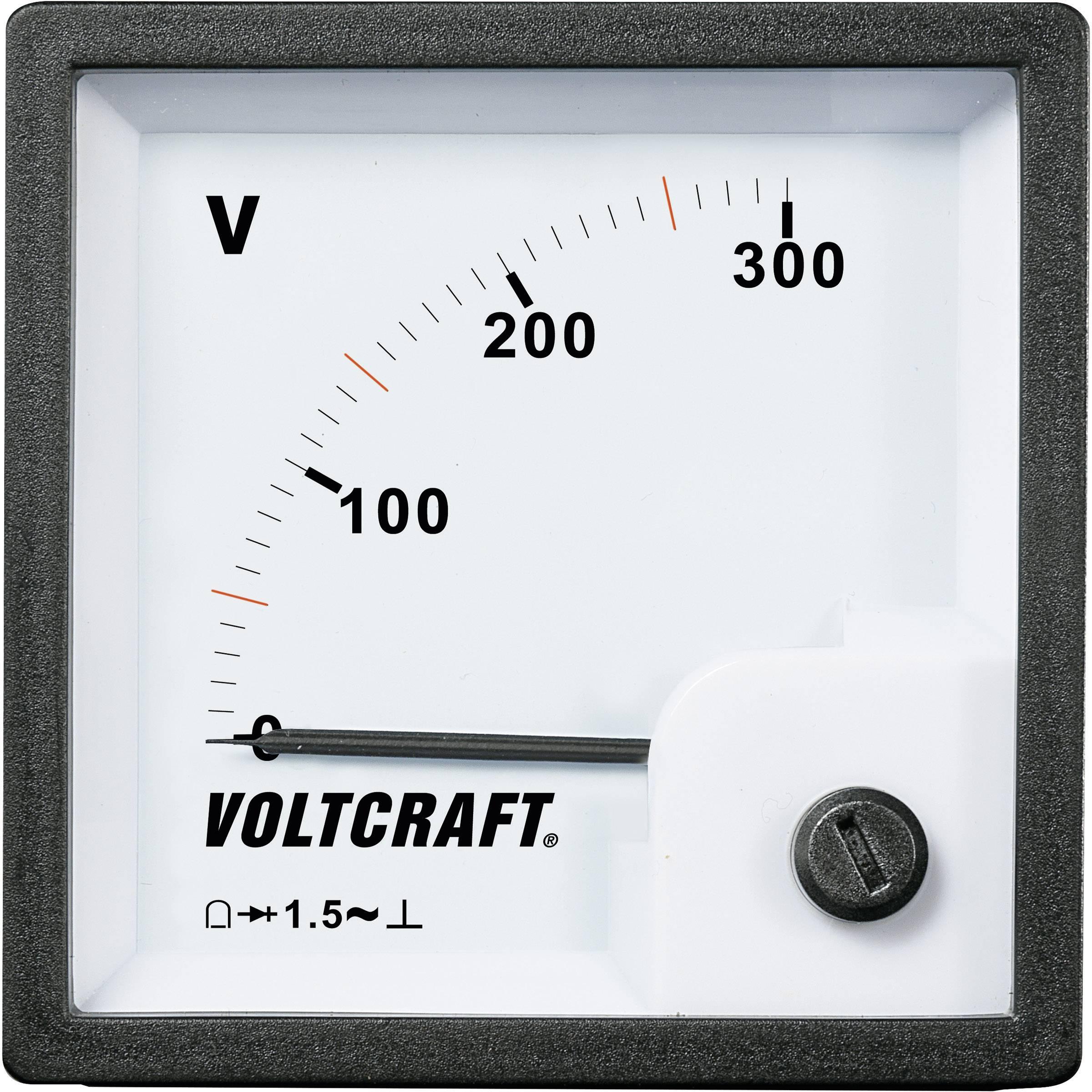 Panelové meradlo Voltcraft AM-72x72, 300 V