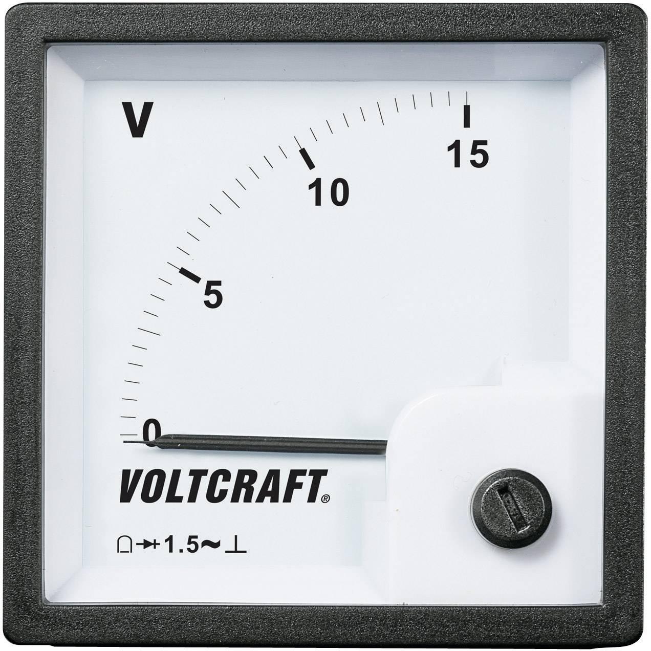 Panelové meradlo Voltcraft AM-72x72, 15 V