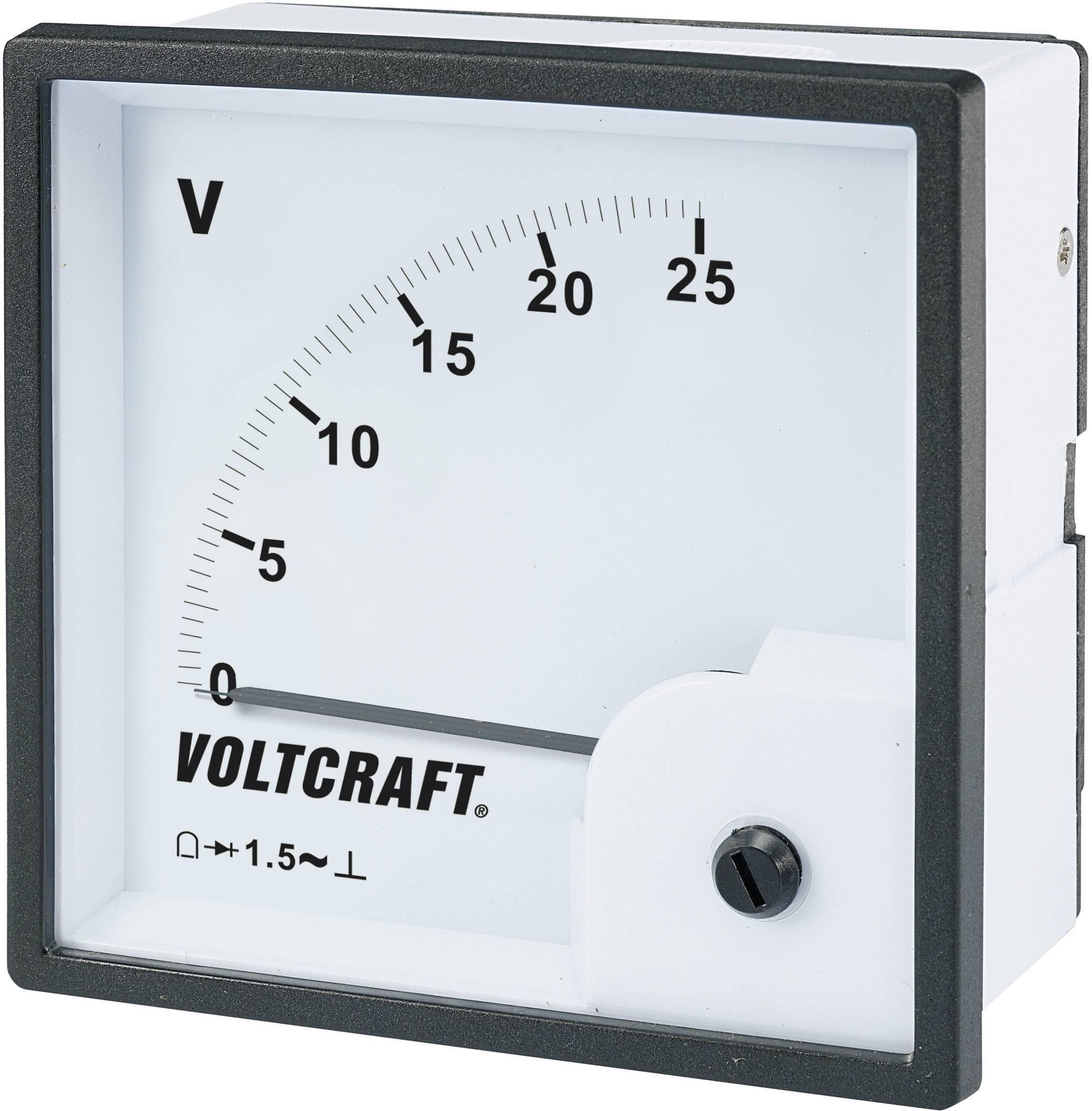 Analógové panelové magnetoelektrické meradlo Voltcraft AM-96x96 / 25 V