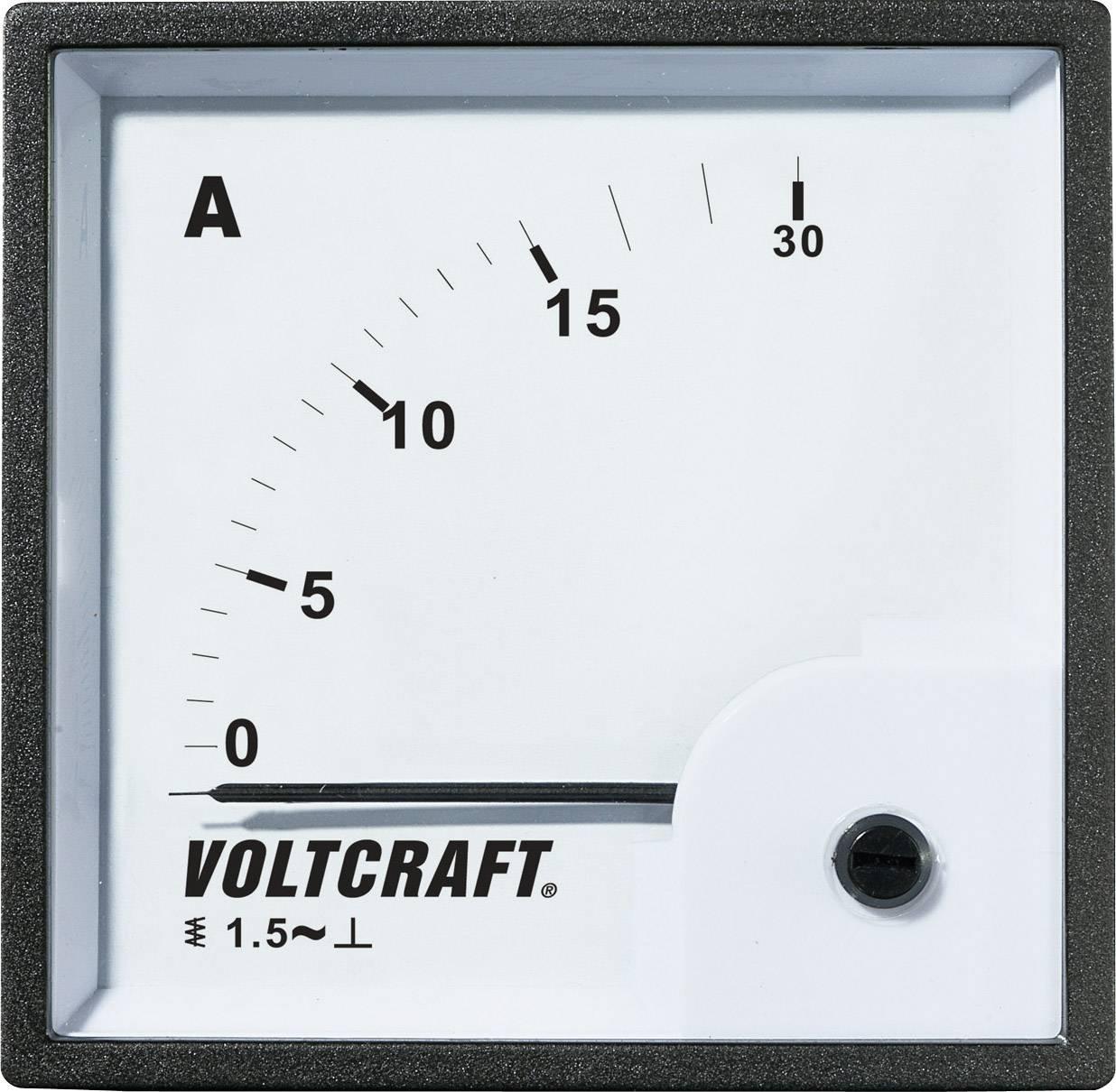 Analogové panelové měřidlo VOLTCRAFT AM-72X72/15A 15 A