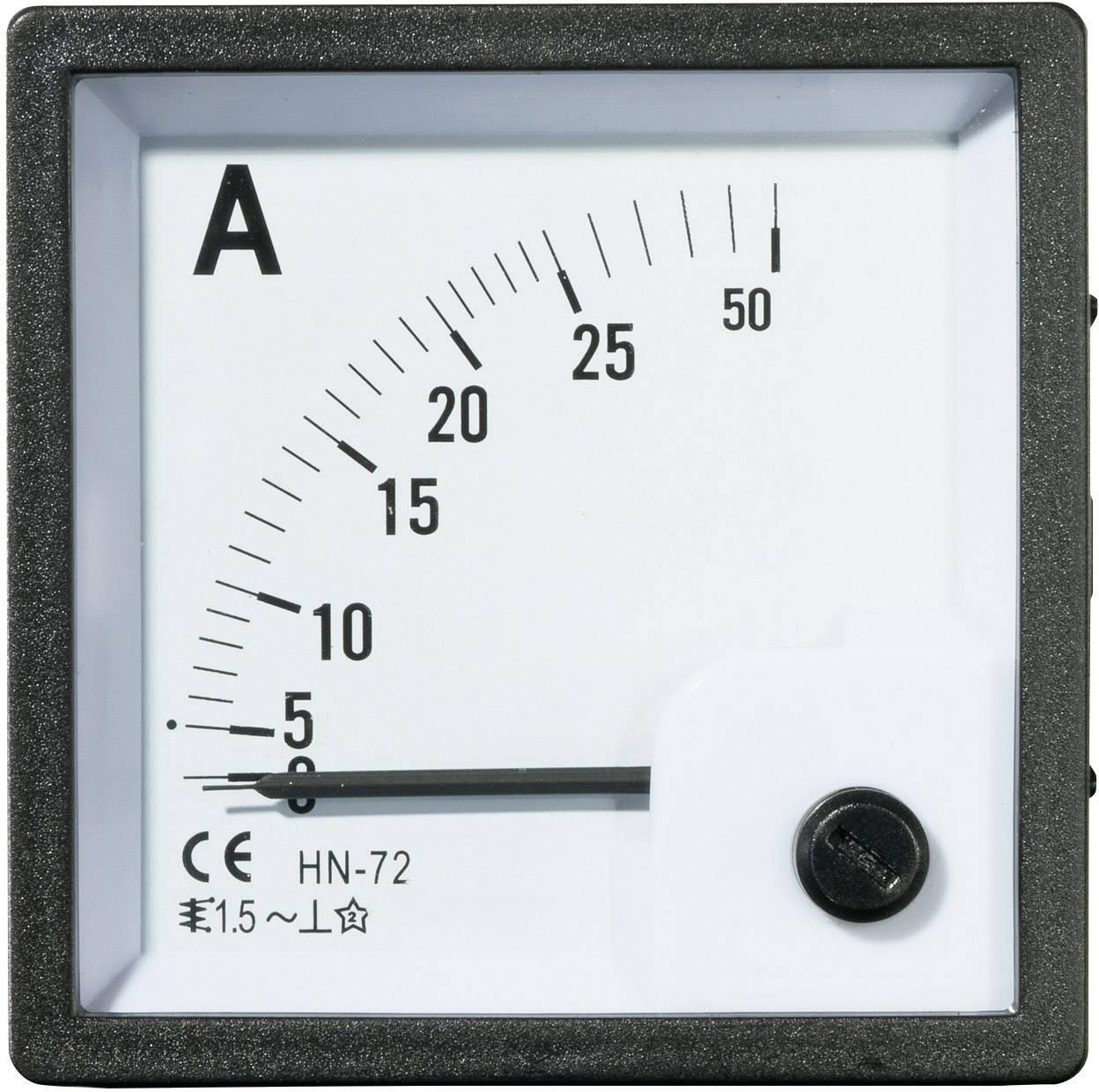 Panelové meradlo Voltcraft AM-72x72, 25 A