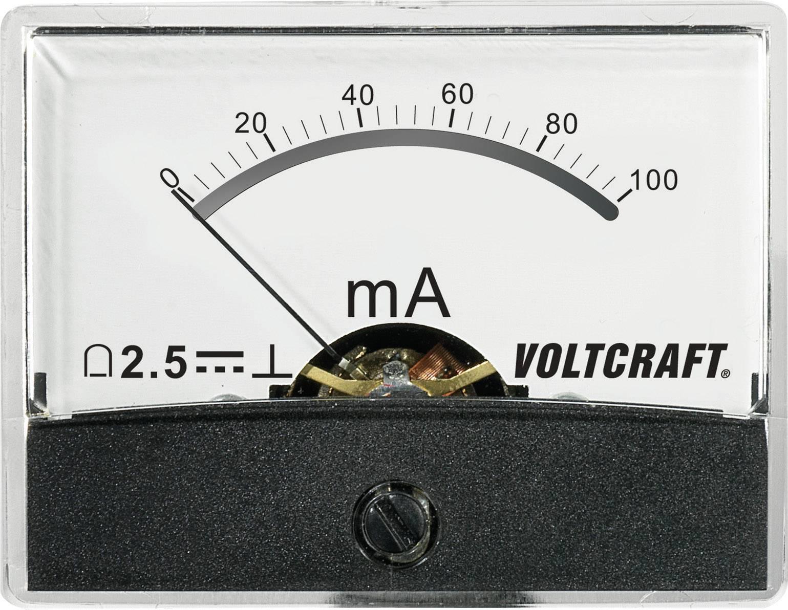 Panelové meradlo Voltcraft AM-60x46, 100 mA/DC