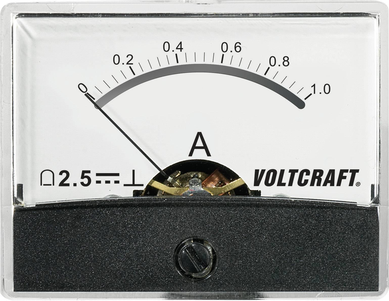 Analogové panelové měřidlo VOLTCRAFT AM-60X46/1A/DC 1 A