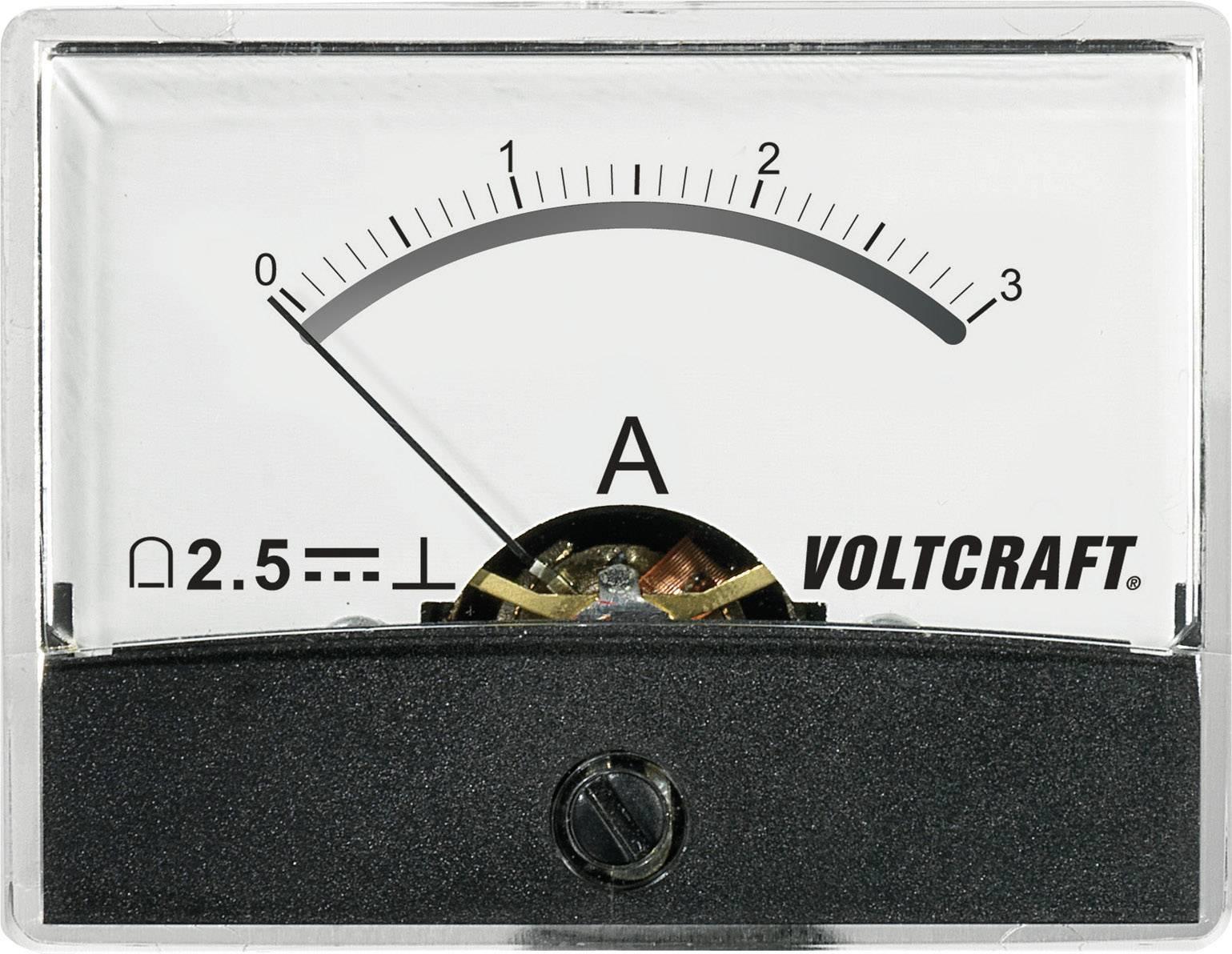 Analogové panelové měřidlo VOLTCRAFT AM-60X46/3A/DC 3 A