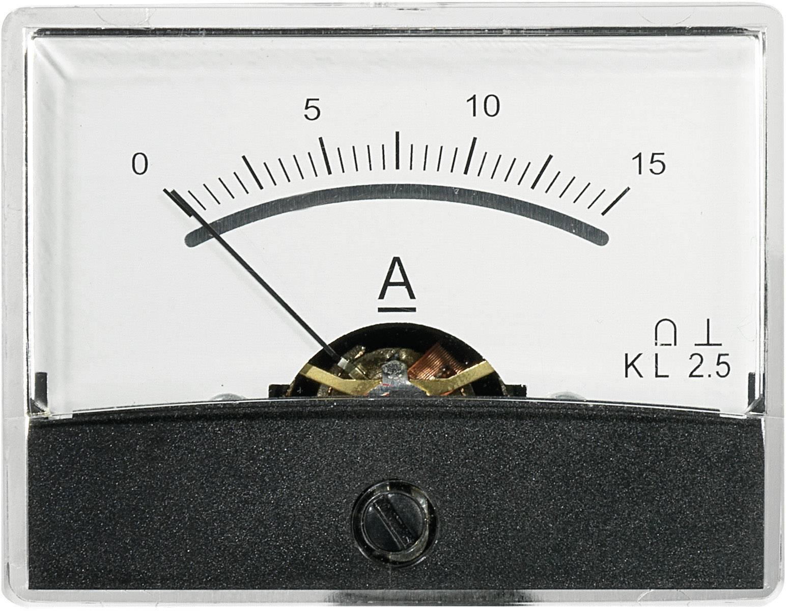 Panelové meradlo Voltcraft AM-60x46, 15 A/DC
