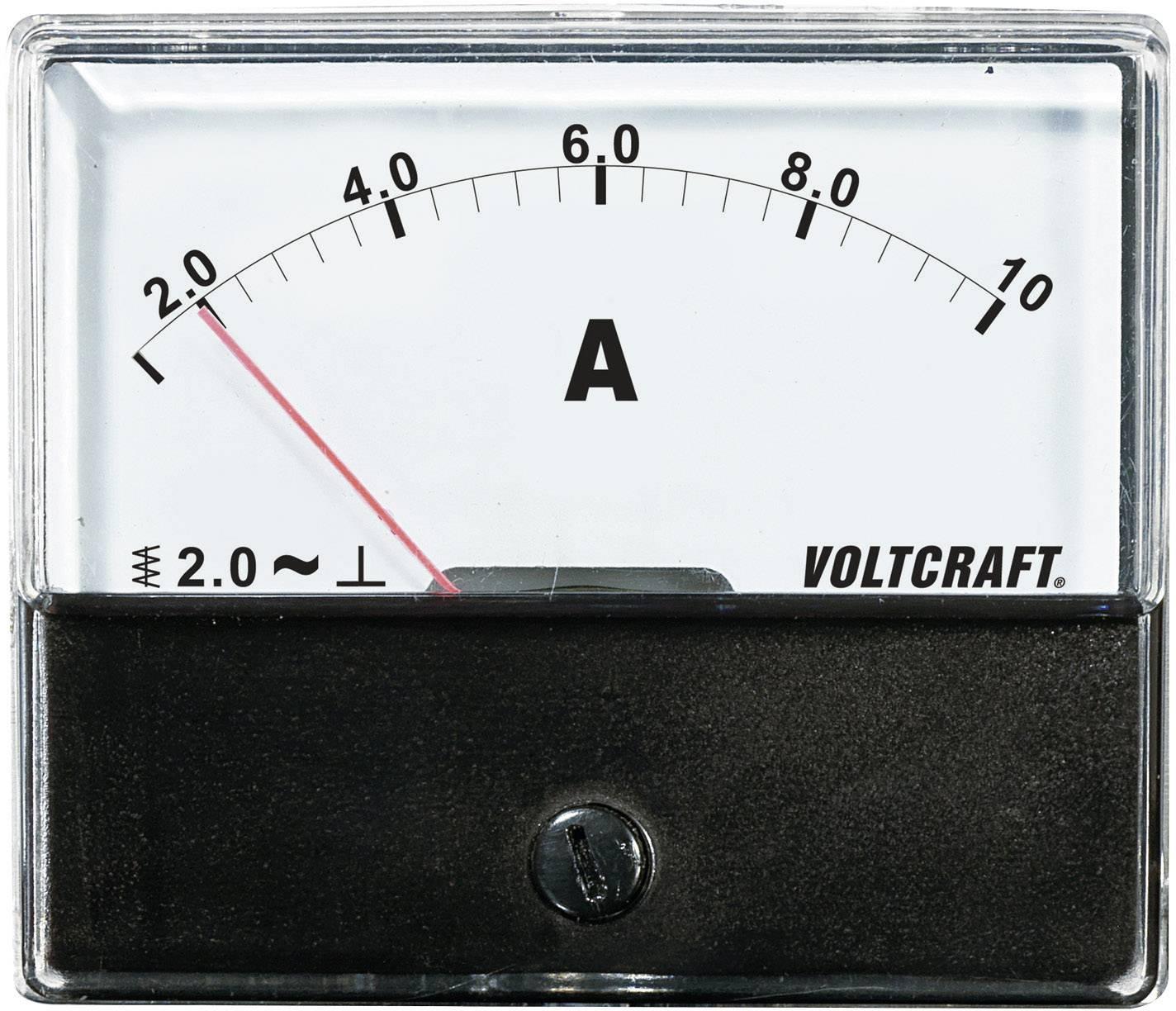 Panelové meradlo Voltcraft AM-70x60, 10 A
