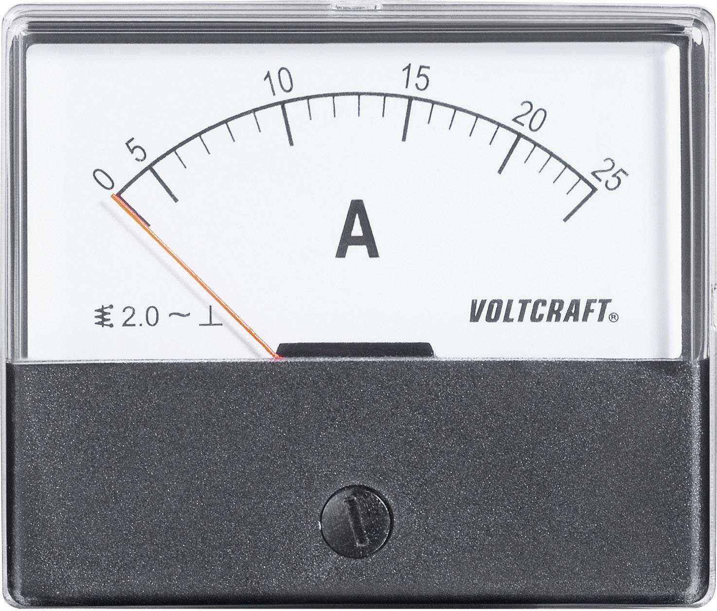 Panelové meradlo Voltcraft AM-70x60, 25 A
