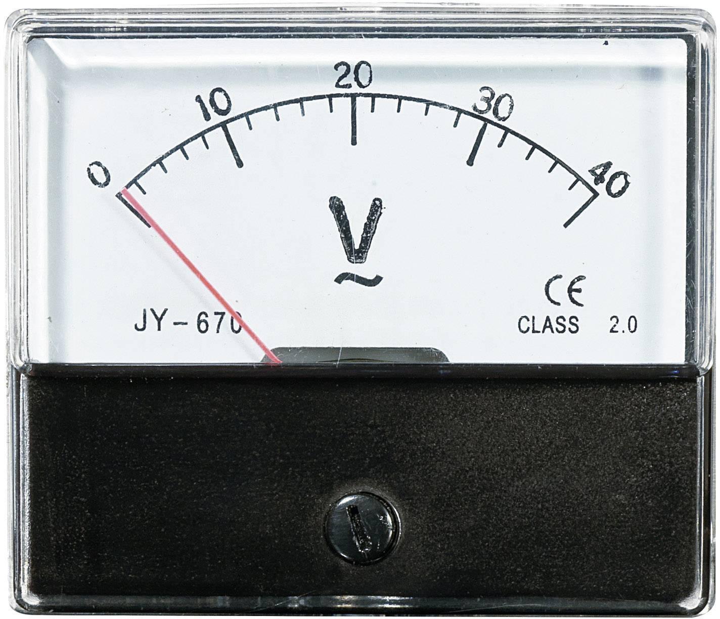 Panelové meradlo Voltcraft AM-70x60, 40 V