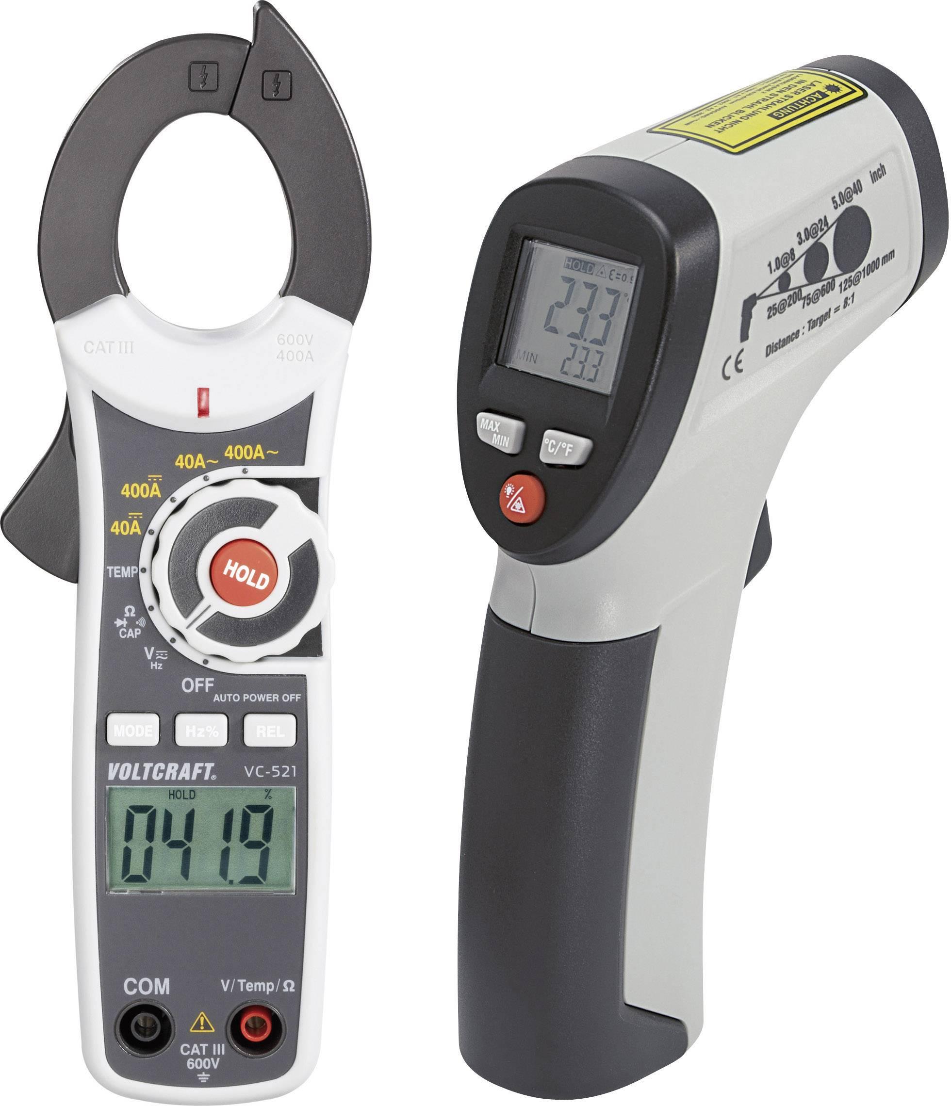 Infračervený teploměr VOLTCRAFT VC-Test-Kit 100, -30 až +260 °C, kontaktní měření